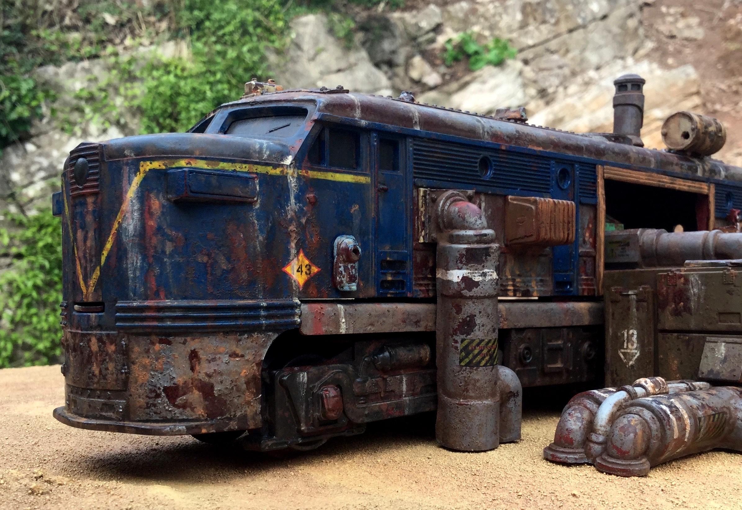 Junk, Locomotive, Terrain, Train