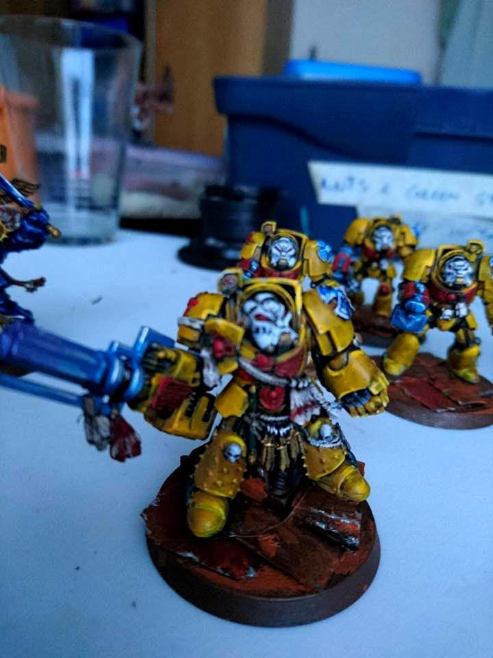 Assult Cannon, Cape, Conversion, Imperial Fists, Space Marines, Terminator Armor