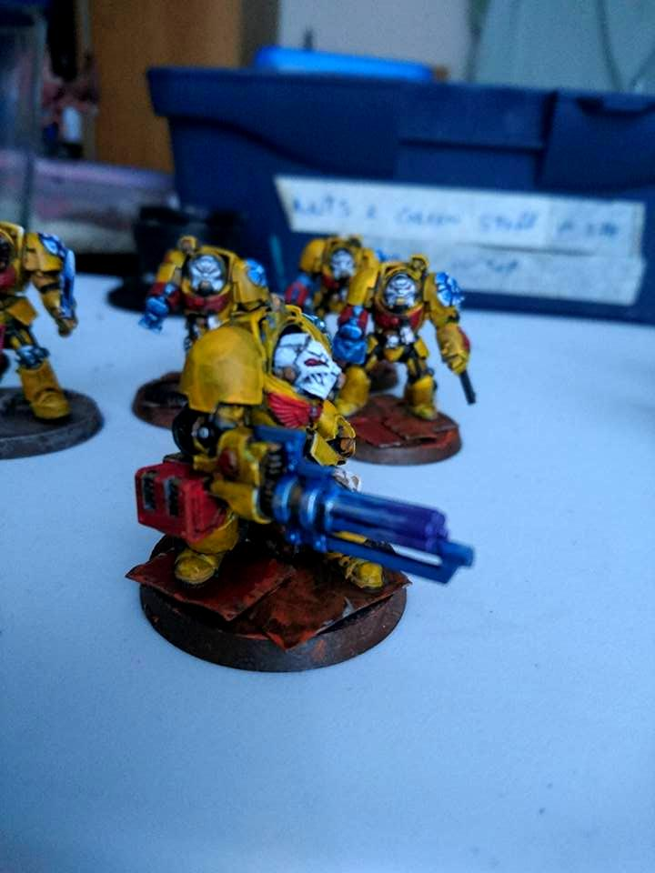 Cape, Conversion, Imperial Fists, Space Marines, Terminator Armor