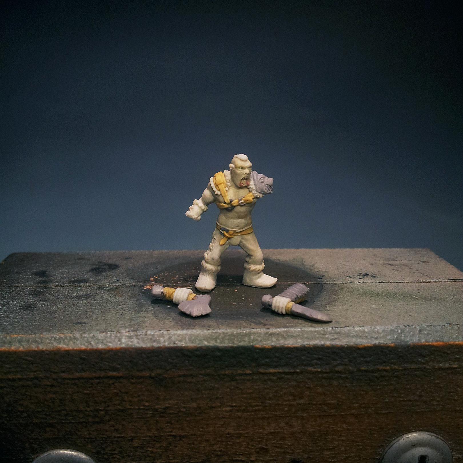 1/100 Scale, Handmade, Magicsculpt, My Way Miniatures, Myway, Orcs, Sculpting