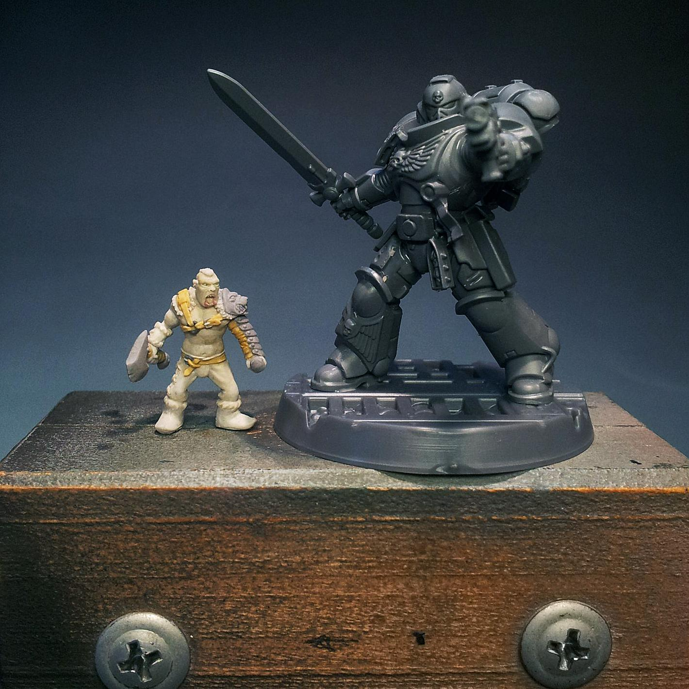 1/100 Scale, Handmade, Magicsculpt, My Way Miniatures, Myway, Orcs, Primaris, Sculpting