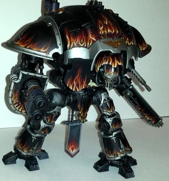 Fire, Ik, Imperial, Imperial Knight, Knights, Painting, Space Marines
