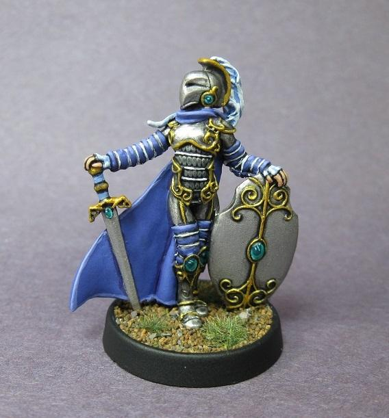 Carreroarts, Female Cleric, Female Fighter, Paladin, Reaper Miniatures