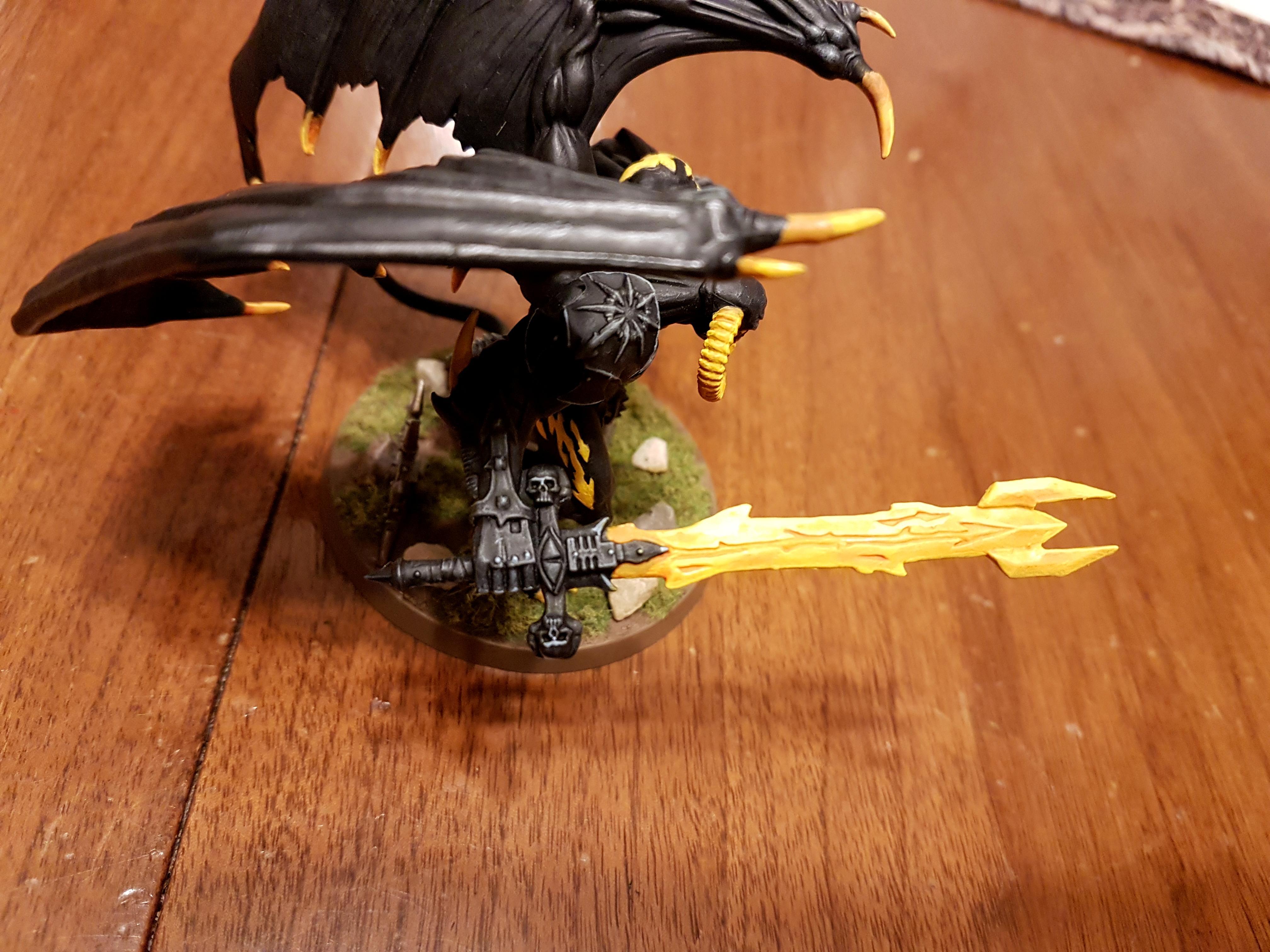 Be'lakor, Black, Daemon Prince, Daemons, Daemons Of Chaos, Grass, Shadow, Yellow