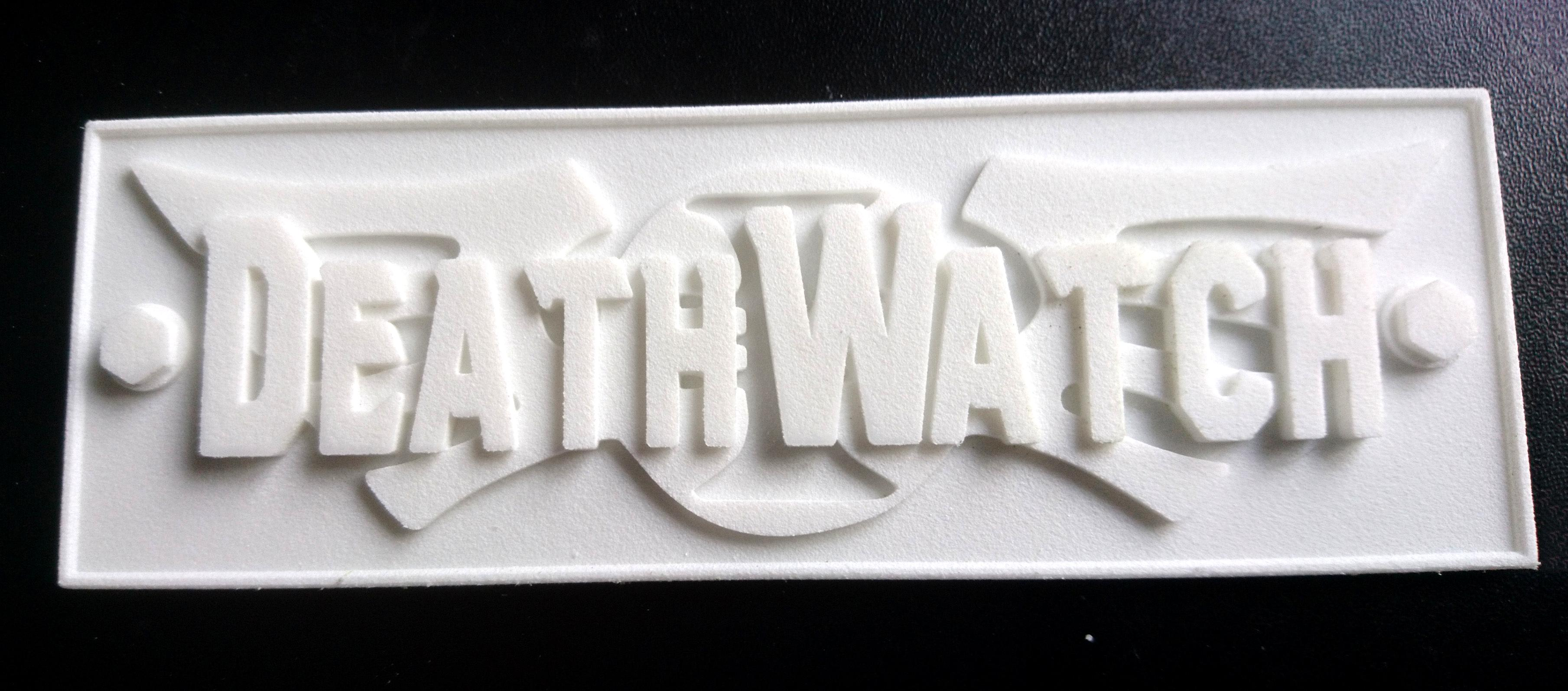 Deathwatch name plate