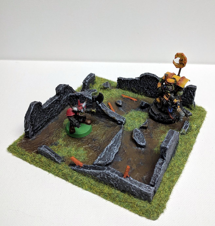 Custom, Orks, Ruins, Scratch Build, Terrain