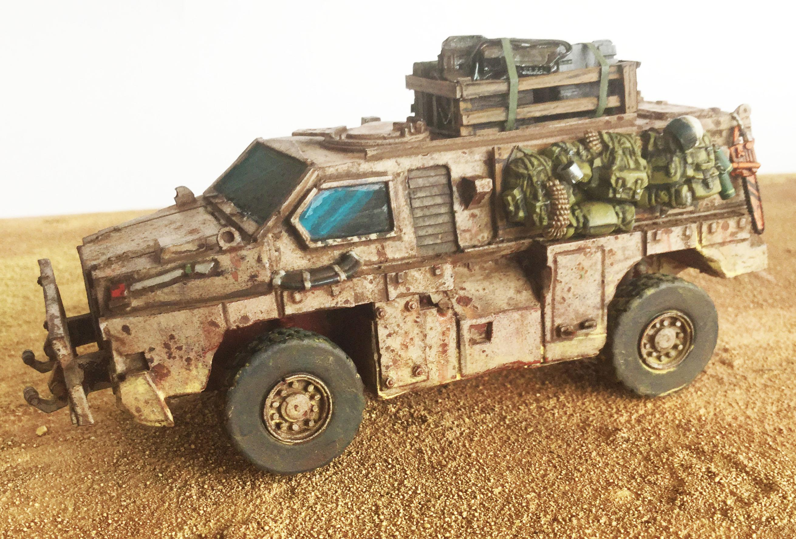 Imperial Guard, Scout Car, Weathered