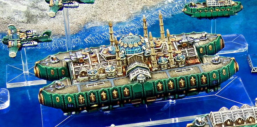 Airship, Copyright Spartan, Dystopian Legions, Dystopian Wars, Ottoman, Out Of Production, Palace, Spartan Games, Steampunk