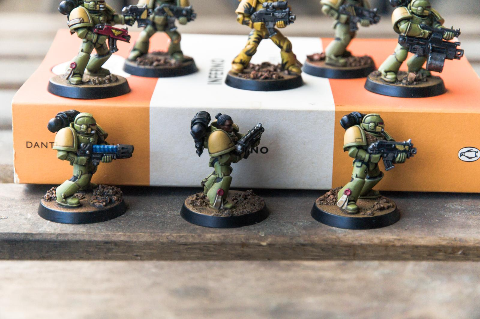 Camouflage, Heavy Bolter, Mantis Warriors, Plasma Guns, Space Marines, Tactical Squad, Tranquillity, Veteran Sergeant