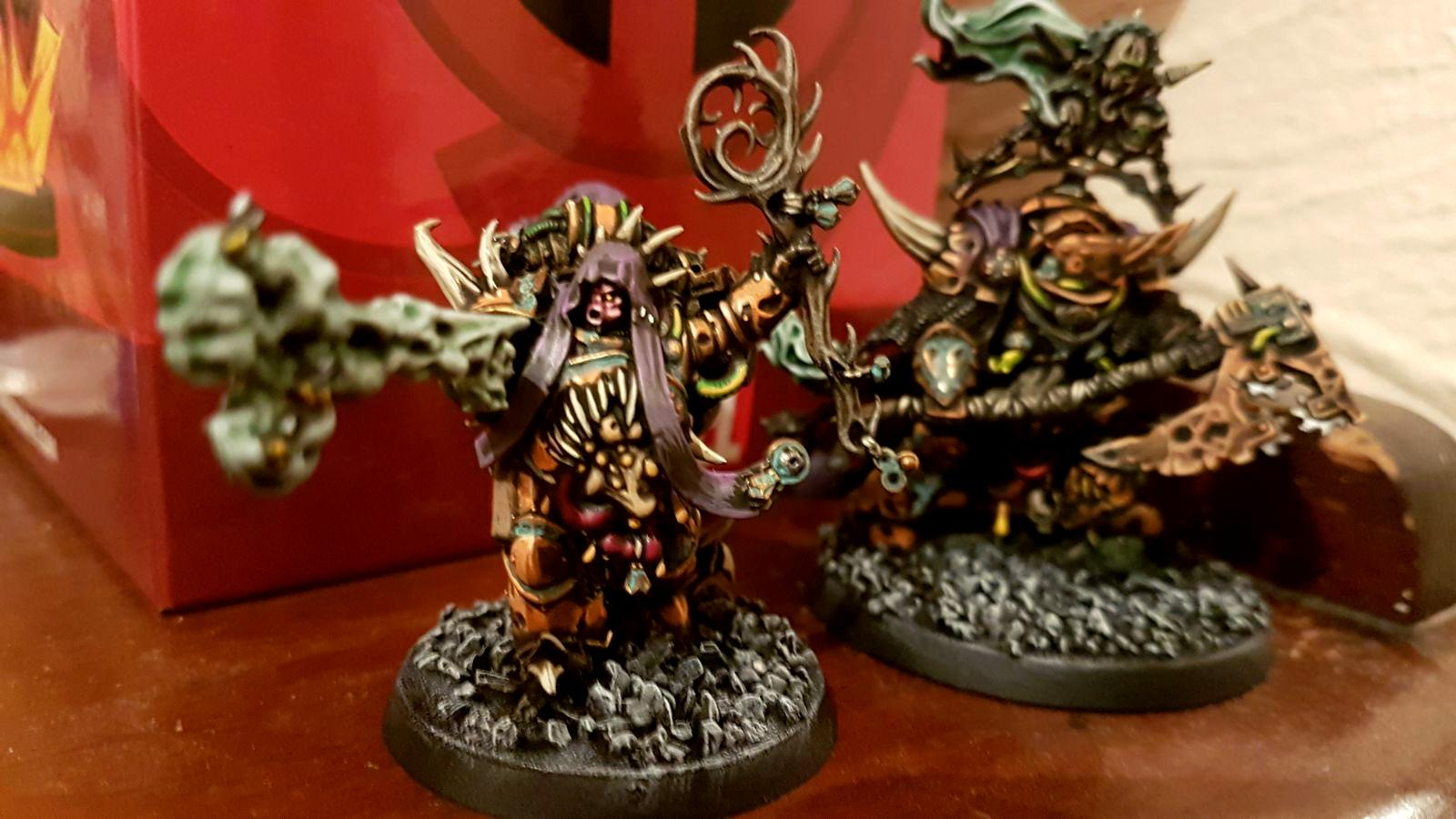 Chaos Space Marines, Corrosion, Death Guard, Lord Of Contagion, Malignant Plaguecaster, Nurgle, Orange, Oxidisation, Patina, Plague Marines, Rust