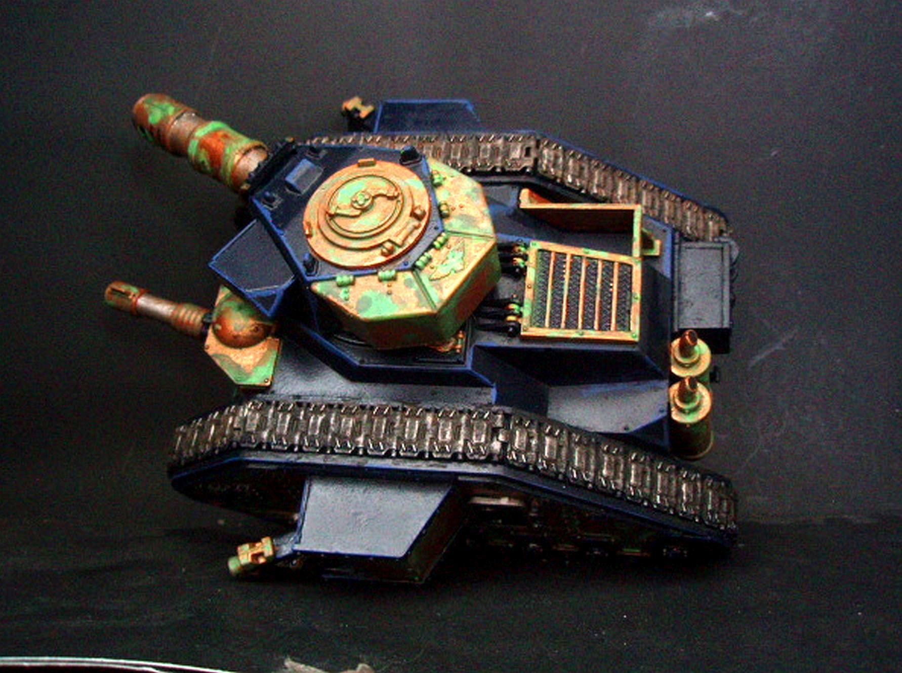 Armor, Bronze, Imperial Guard, Leman Russ, Sisters Of Battle, Tank, Verdigris
