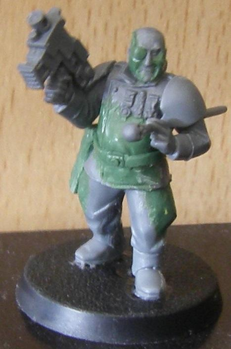 Imperial Guard, Officer, Potbelly, Sculpting