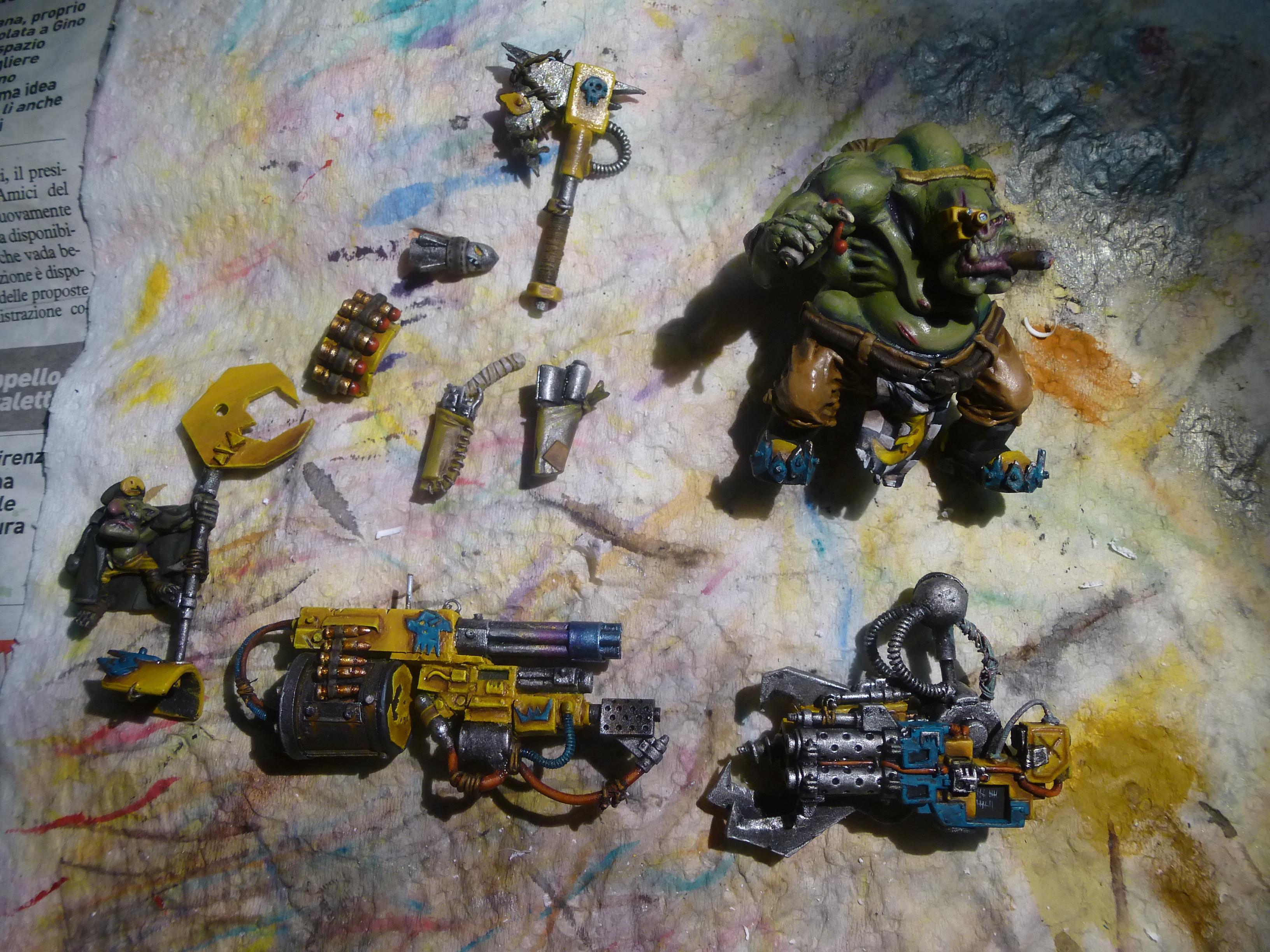 Badmoon, Orks, Fat ork painting