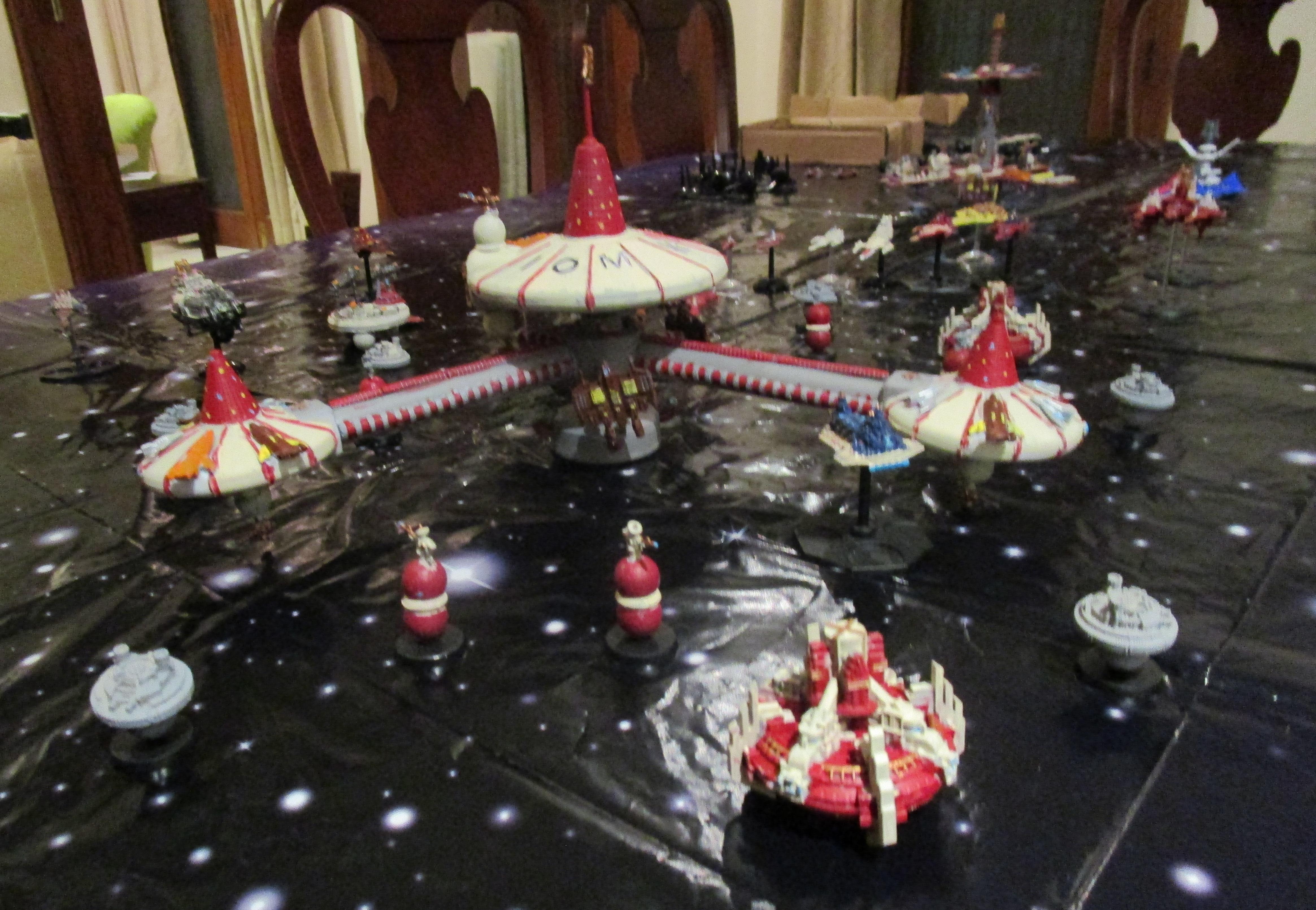 Battlefleet Gothic, Oldhammer, Space Fleet, Space Station, Star Trek