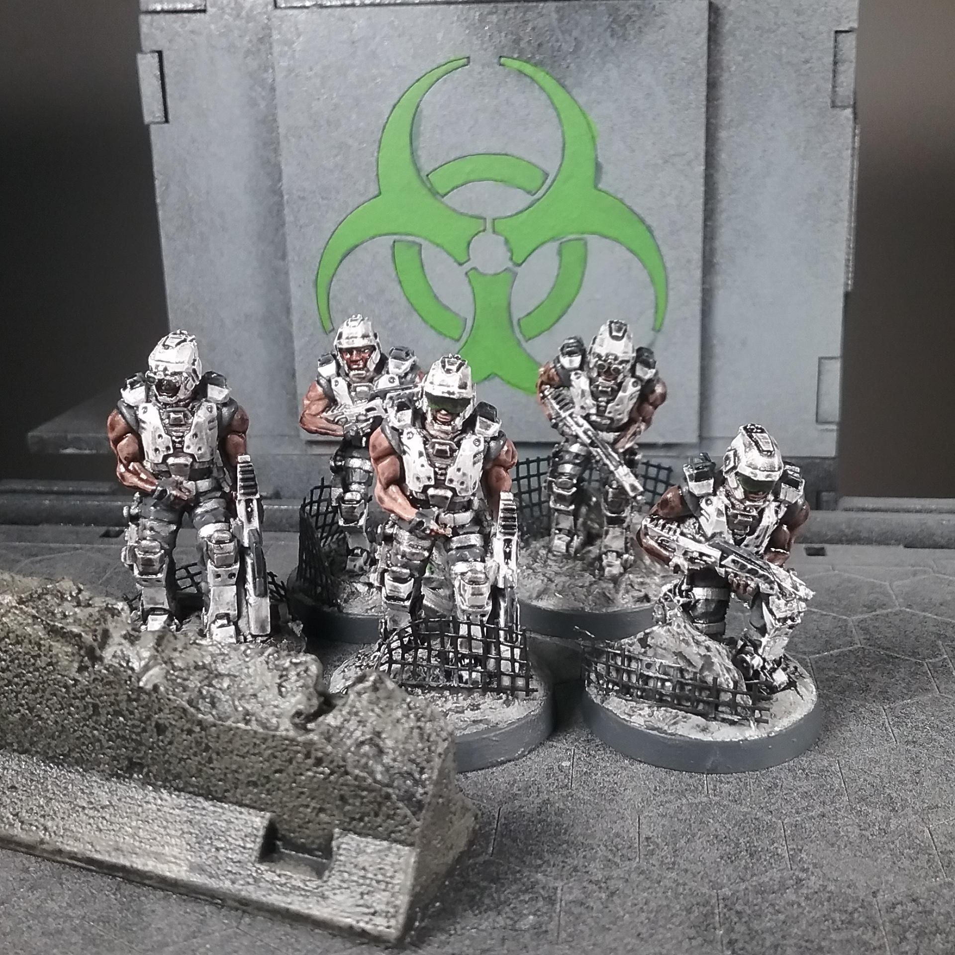 Afterlife, Titan Forge, Unity Council, Unity Council Marines, X-terra Guardians