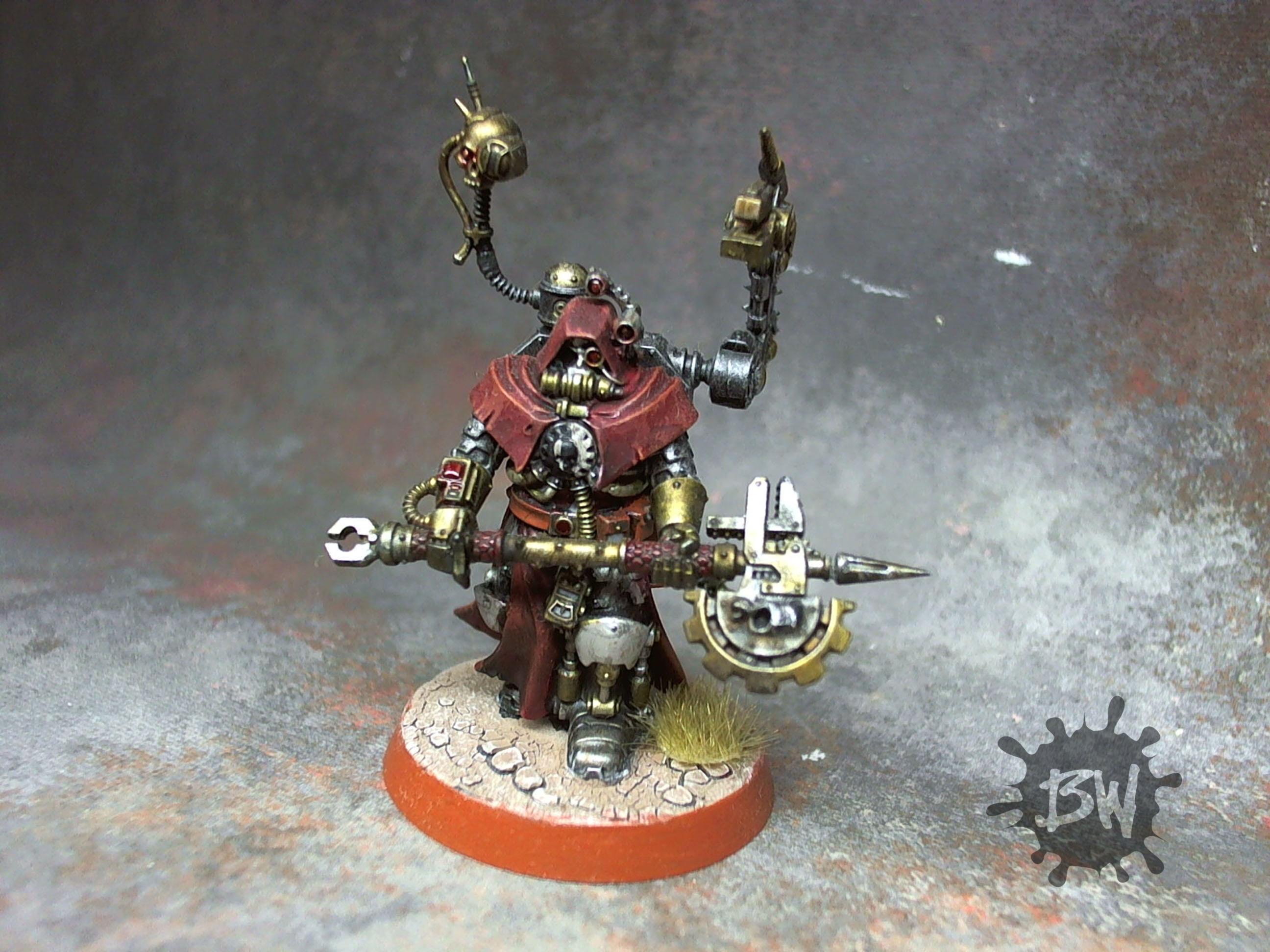 Admech, Enginseer, Imperial Guard, Pro-painted, Tech Priest Enginseer, Warhammer 40,000, Warhammer Fantasy