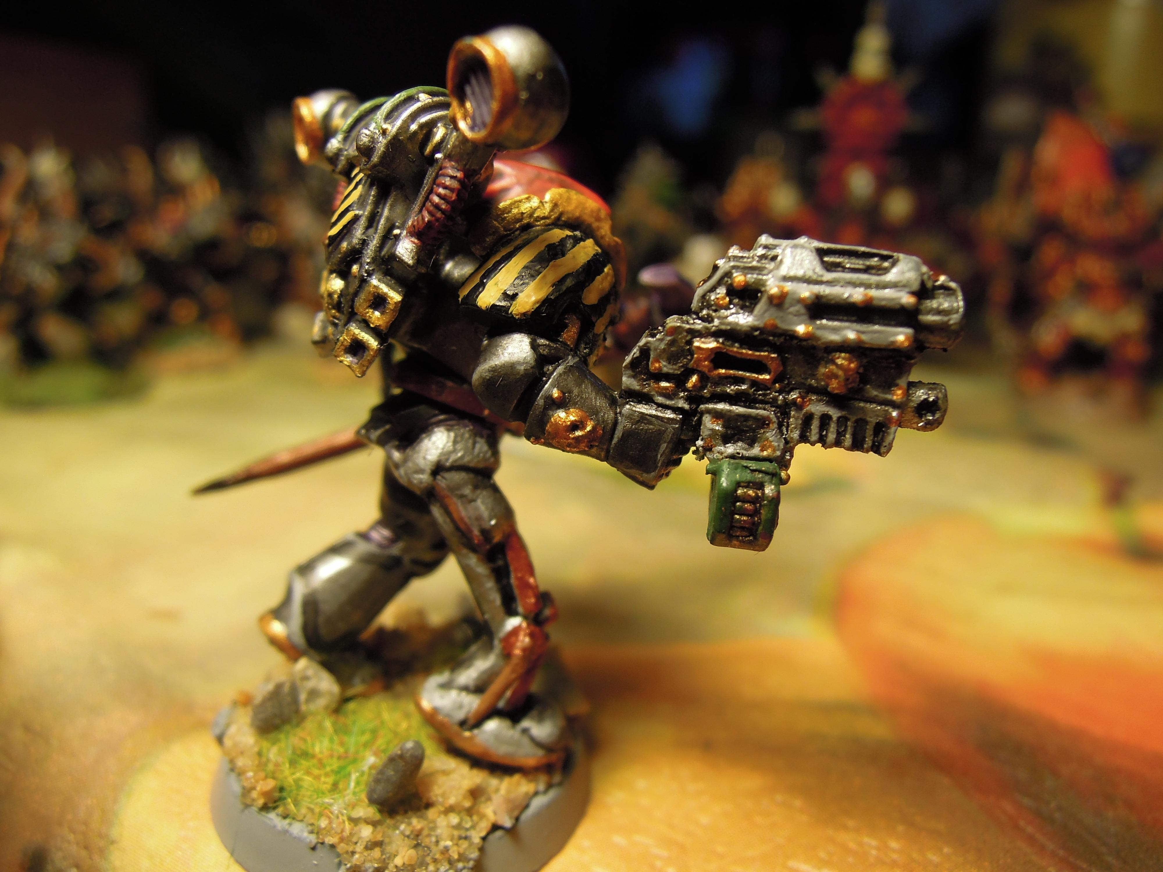 Bolter, Chaos, Chaos Space Marines, Chaos Undivided, Combi Weapon, Conversion, Hazard Stripe, Heretic Astartes, Iron Warriors, Iron Within, Iron Without!, Power Staff, Traitor Legions, Warhammer 40,000, Warsmith