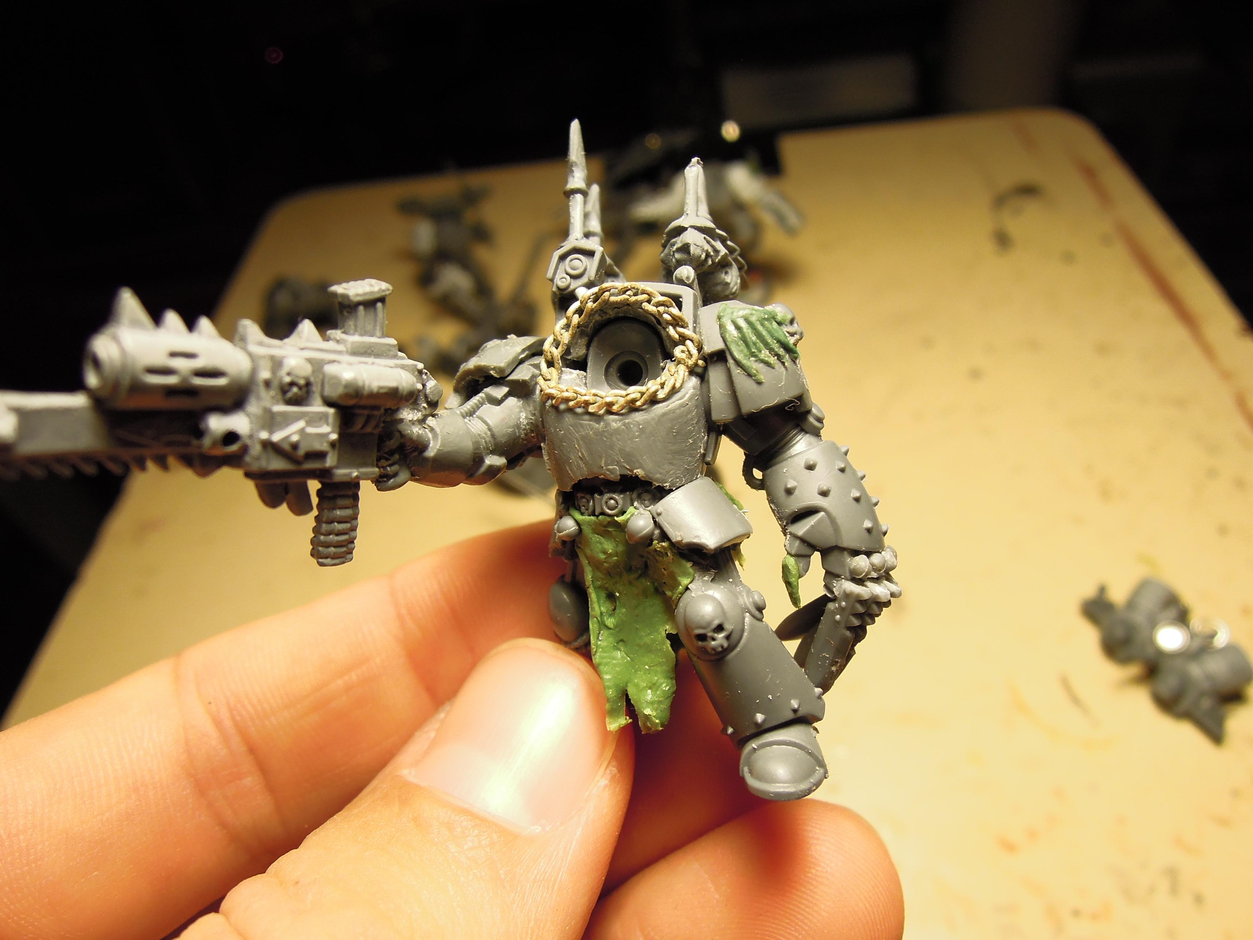 Ave Dominus Nox, Chaos, Chaos Space Marines, Chaos Undivided, Combi Weapon, Conversion, Dark Vengeance, Heretic Astartes, Kitbash, Lightning Claw, Night Lords, Power Fist, Talon, Terminator Armor, Traitor Legions, Warhammer 40,000, Work In Progress