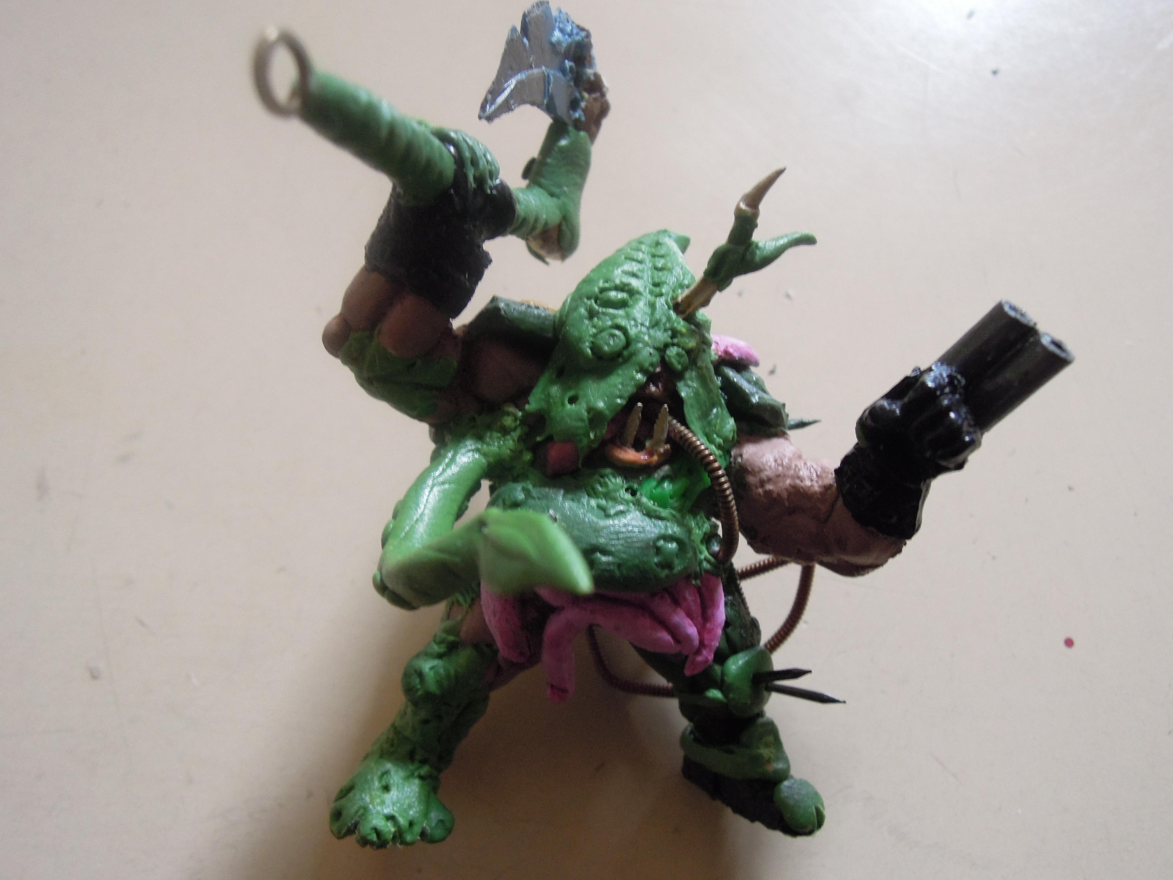 Axe, Blight, Chaos, Chaos Space Marines, Conversion, Daemon Prince, Death Guard, Guts, Hood, Nurgle, Plague, Poleaxe, Rot, Scratch Build, Technolog, Work In Progress