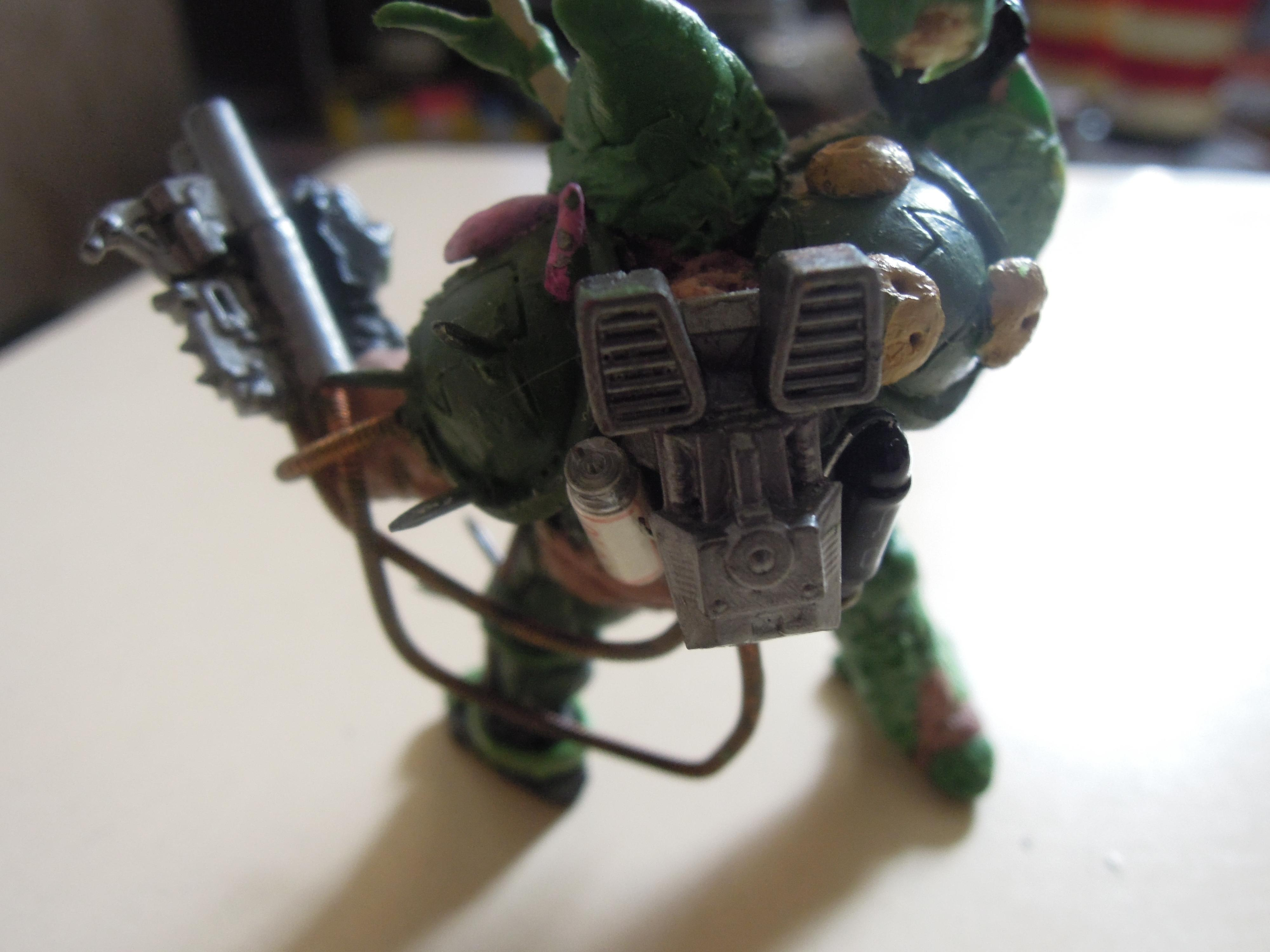 Blight, Chaos, Chaos Space Marines, Conversion, Daemon Prince, Death Guard, Guts, Heretic Astartes, Hood, Nurgle, Plague, Plague Marines, Poleaxe, Rot, Scratch Build, Technolog, Tehnolog, Warhammer 40,000, Work In Progress