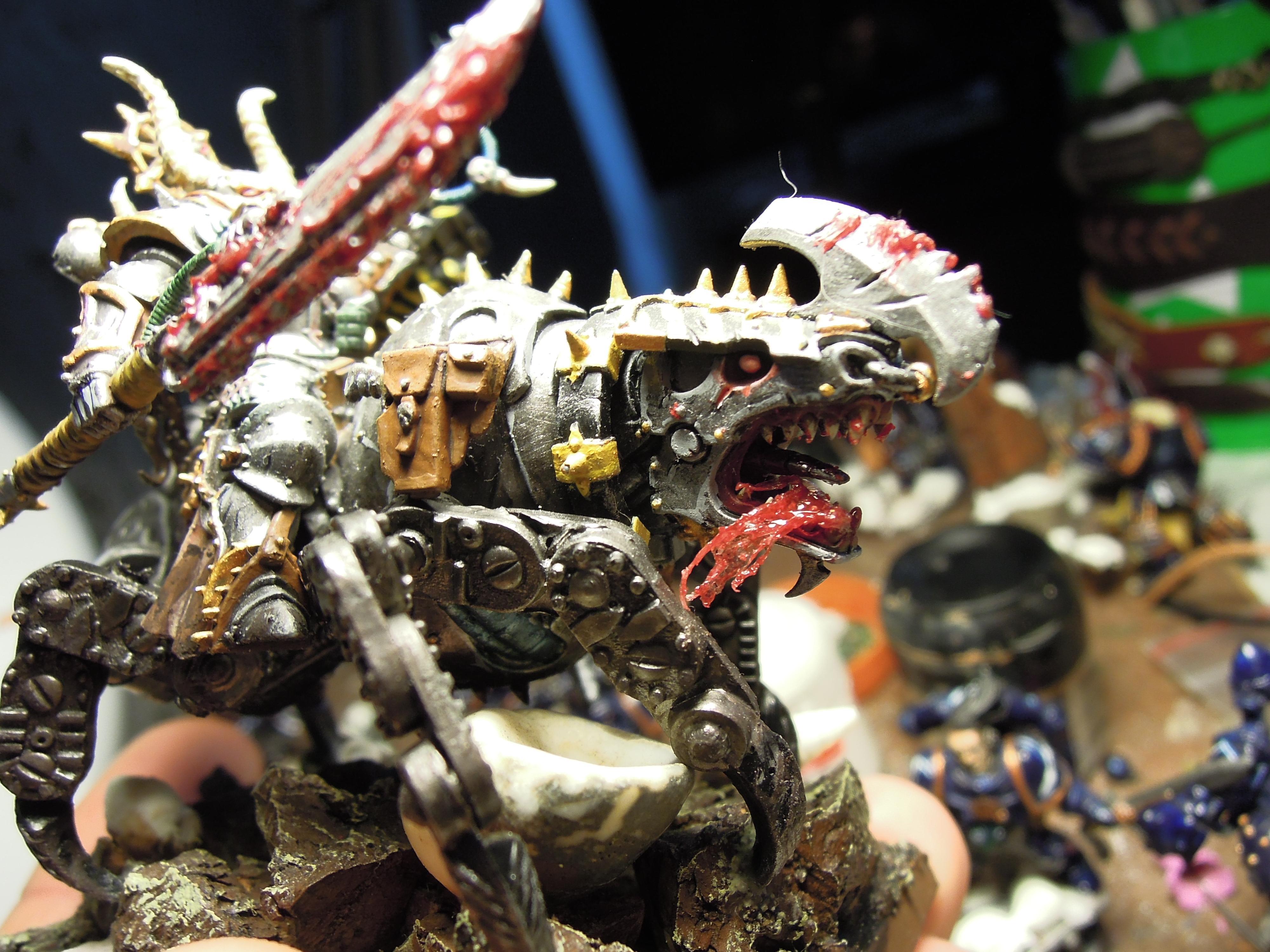 Blood, Chaos, Chaos Space Marines, Conversion, Glaive, Iron Warriors, Juggernaut, Meltagun, Servo Arm, Skullcrushers