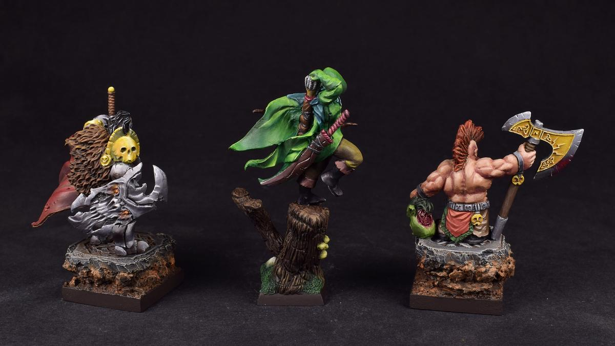 Archers, Barbarian, Chieftain, Dwarves, Elves, Human, Scibor Miniatures