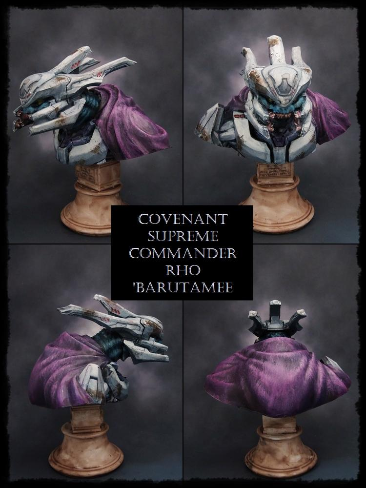 Bust, Cloak, Covenant, Halo, Halo Fleet Battles, Science-fiction, Spartan Games, Texture, Weathered
