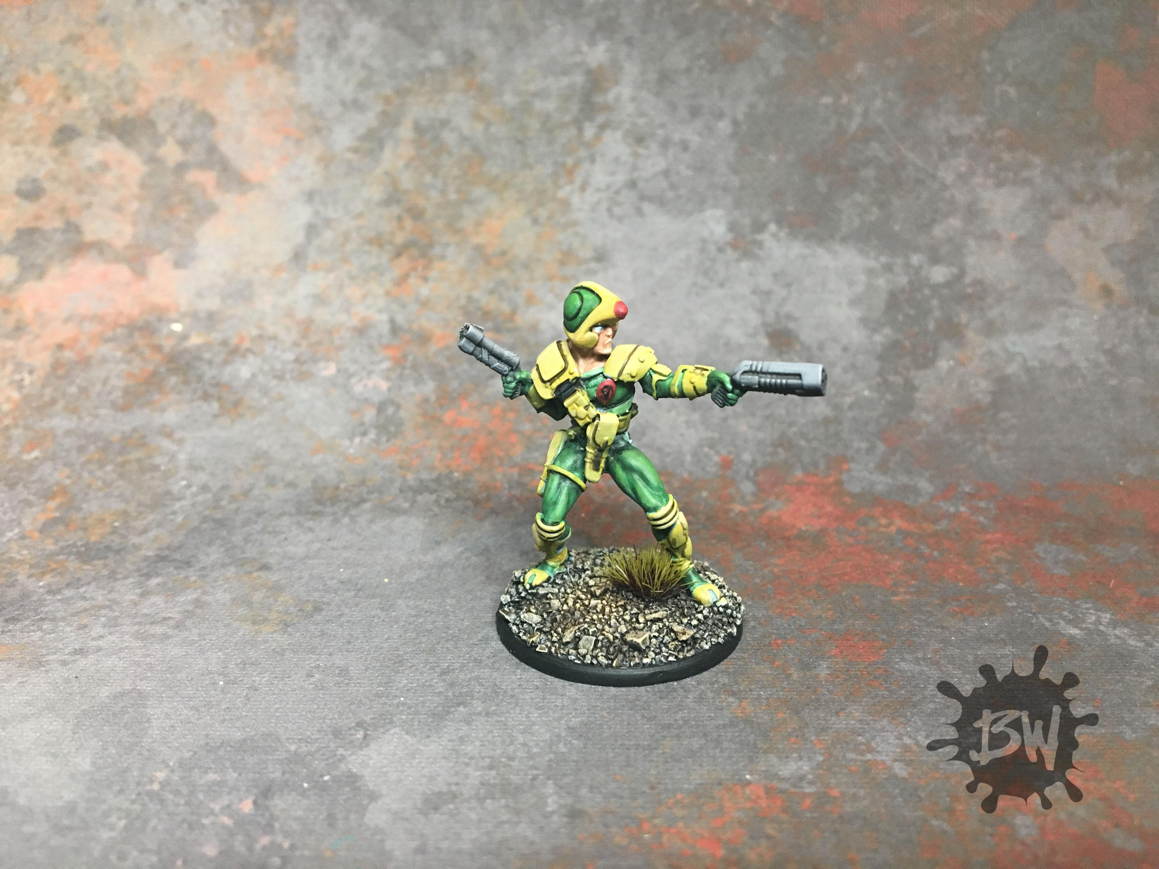 Board Game, Johnny Alpha With Helmet, Strontium Dog, Warlord Games