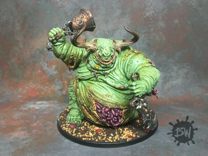 Bawpainting, Chaos, Commission, Daemons, Games Workshop, Great Unclean One, Guo, Nurgle, Painting, Warhammer 40,000
