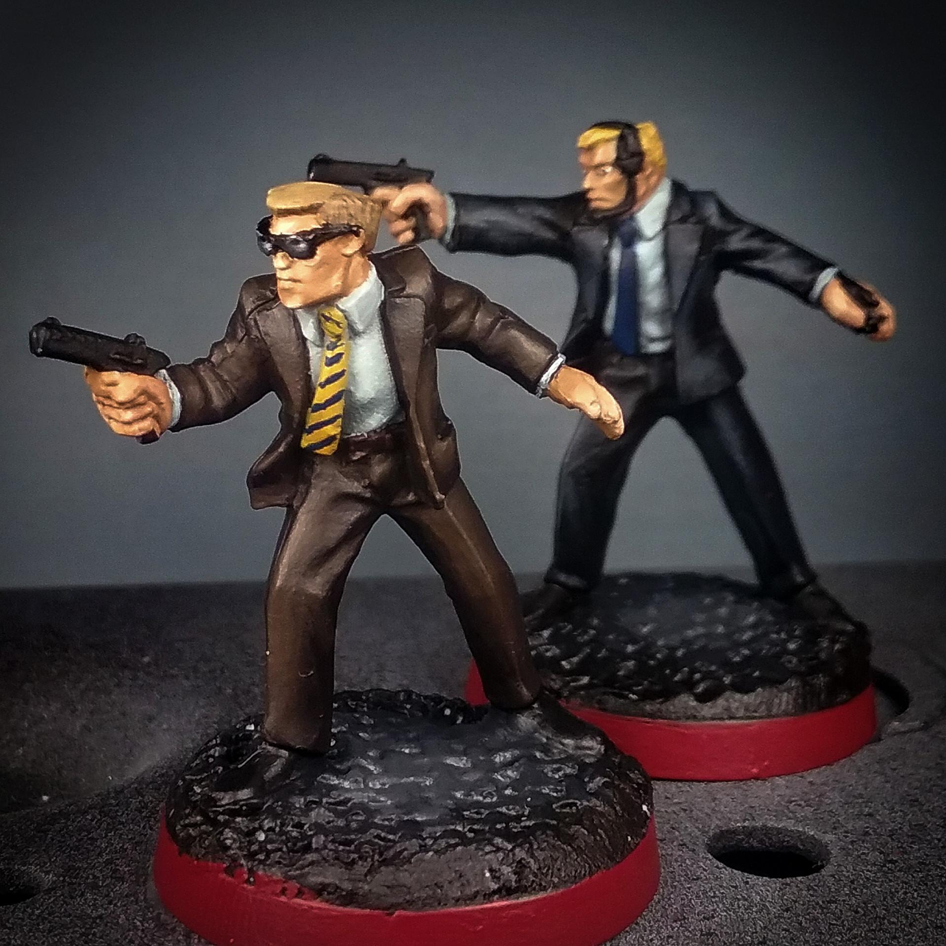 28mm Battlestar Galactica Miniatures, 28mm Battlestar Galactica Security Agents, 28mm Presidential Security Service, Battlestar Galactica, Battlestar Galactica Miniatures, Em4 Miniatures, Future Skirmish, Moonraker Miniatures, Suits Miniatures, Suits With Hand Gun