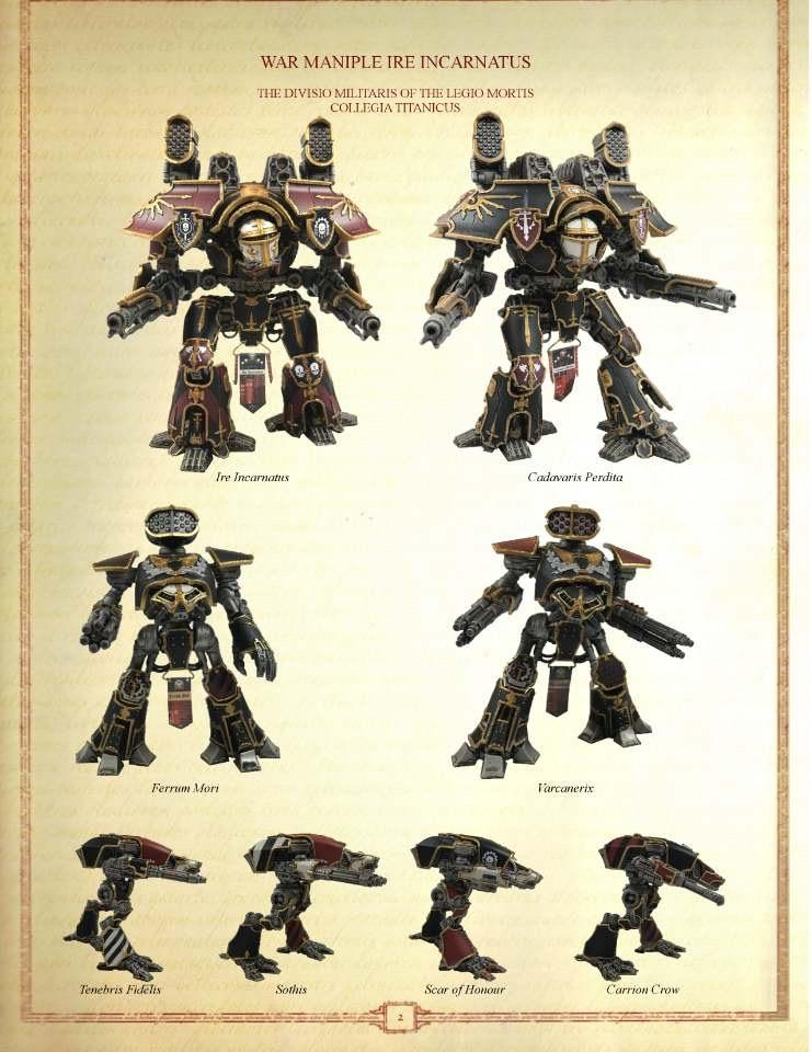 Adeptus Titanicus, Mortis, Reaver, Titan, Warhound, Warlord