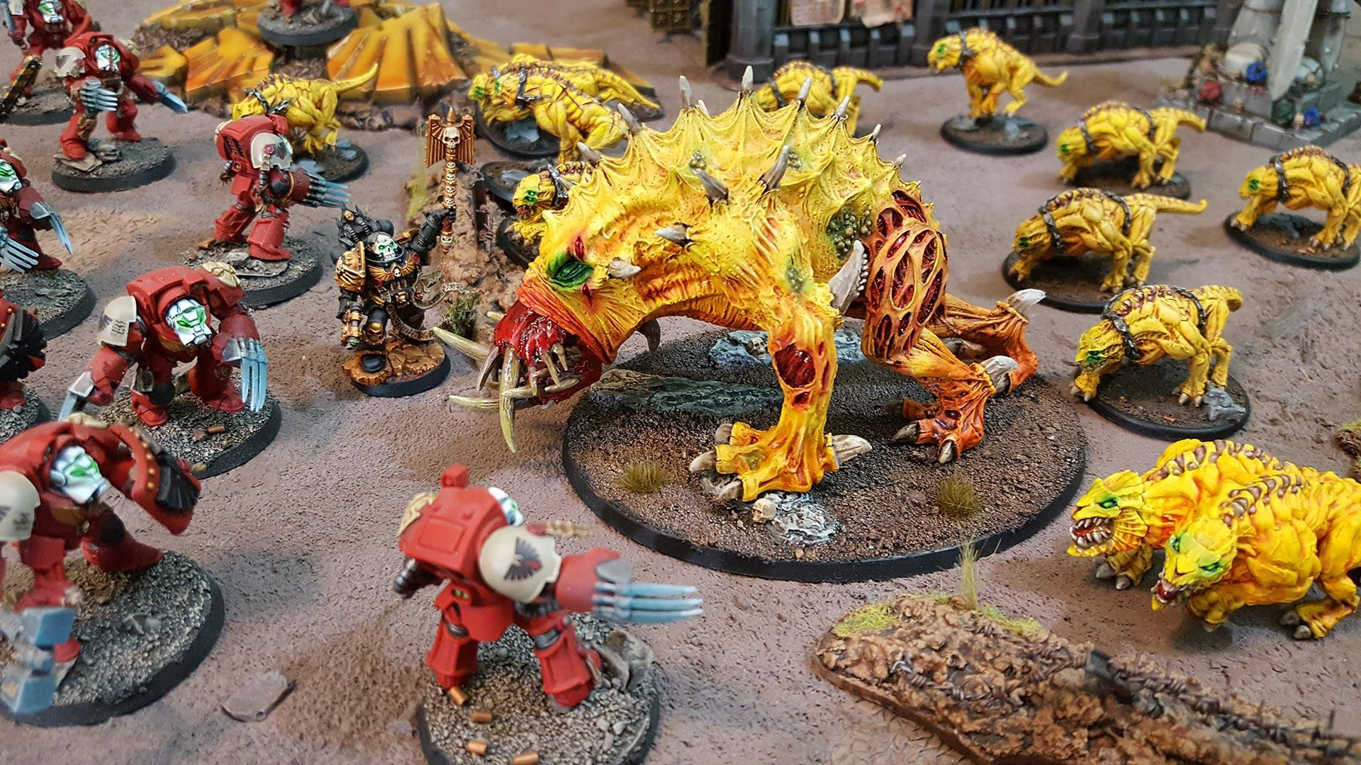 Chaos, Chaos Spined Beast, Daemons, Forge World, Out Of Production, Spined Beast, Spined Chaos Beast, Yellow
