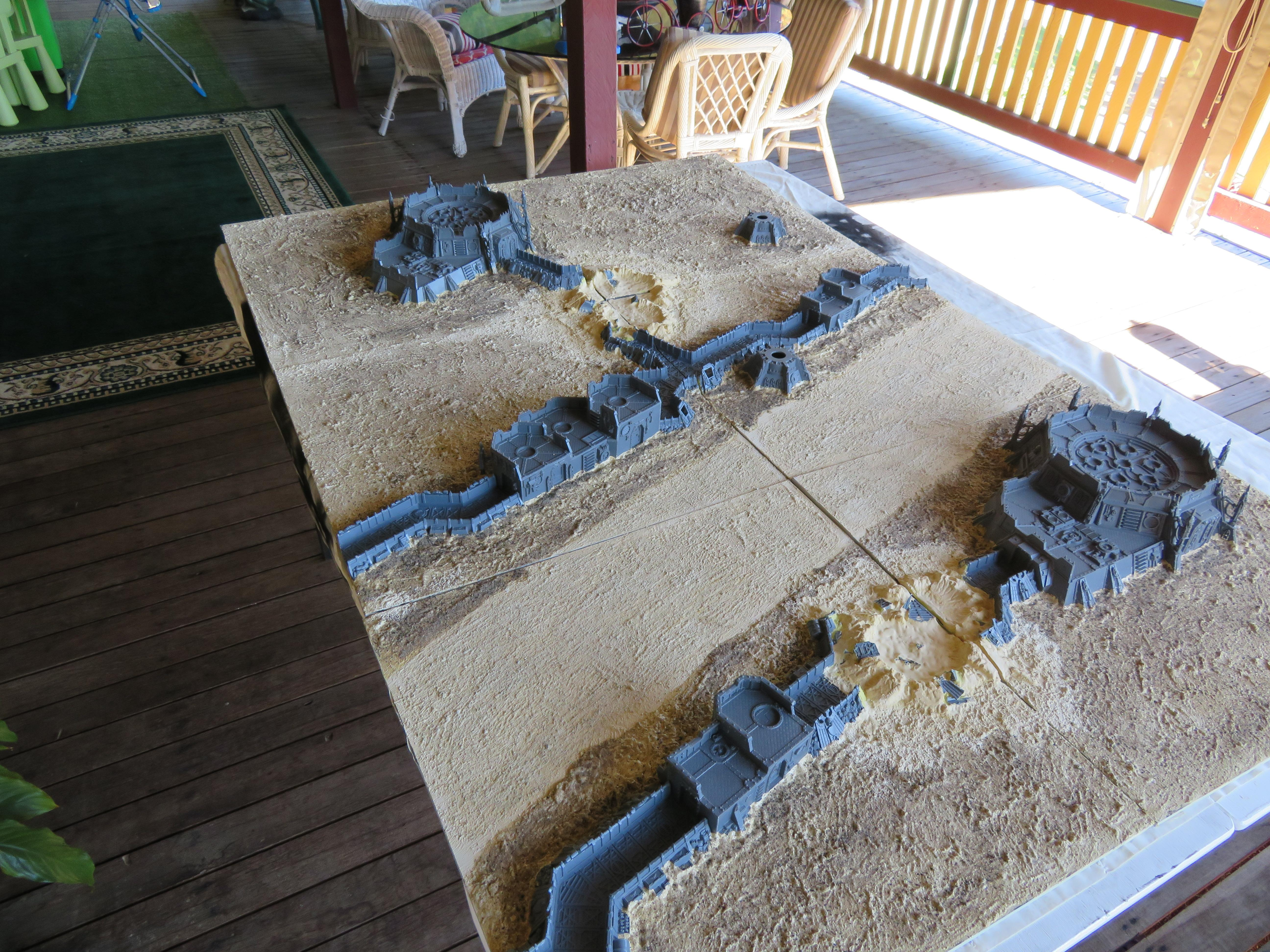 Bomb Damage, Craters, Game Table, Terrain