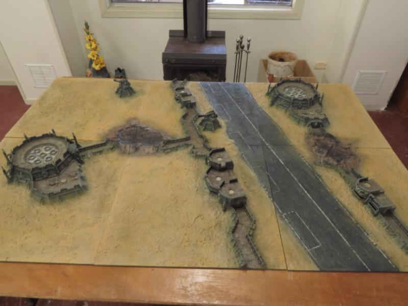 Game Table, Terrain, Trenches, Warhammer 40,000