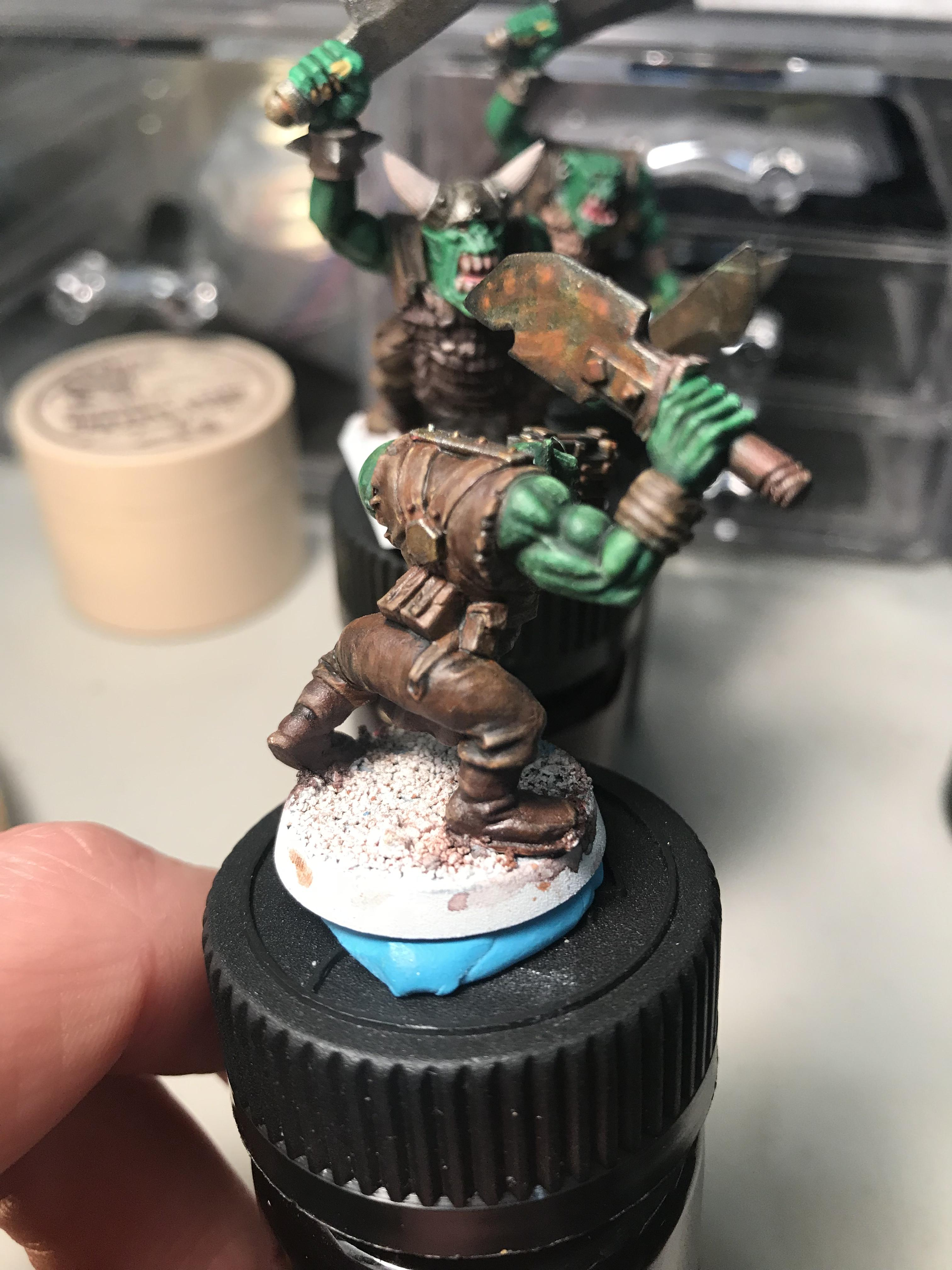40k Ork with rust effect