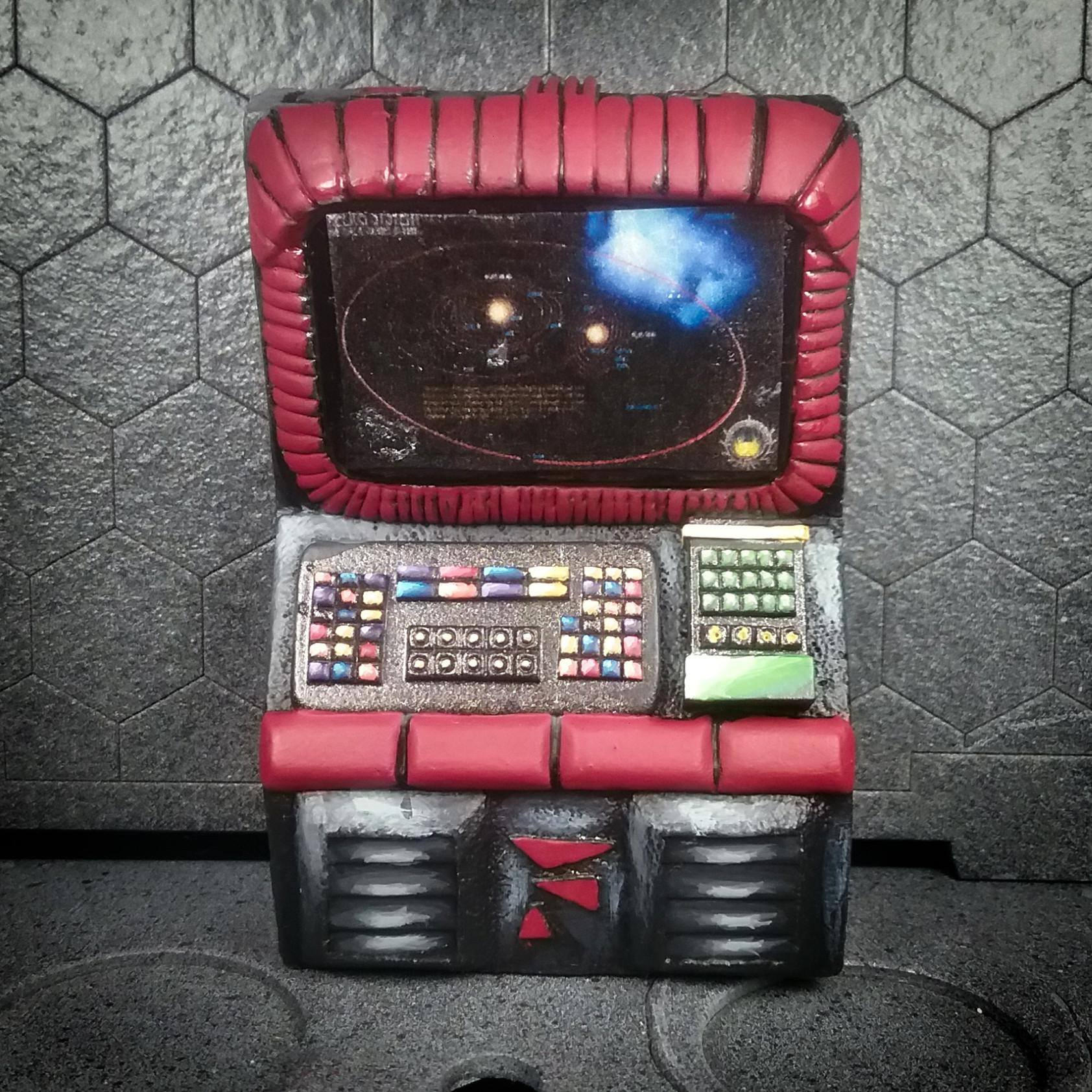 28mm Battlestar Galactica Miniatures, 28mm Sci Fi Scenics, Battlestar Galactica Miniatures, Battlestar Galactica Terrain, Sci Fi Terrain, Scotia Grendel, Space Terrain, Starship