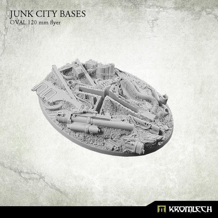 120 Mm, Base, Flyer, Junk City, Kromlech, Oval, Resin, Warhammer 40,000
