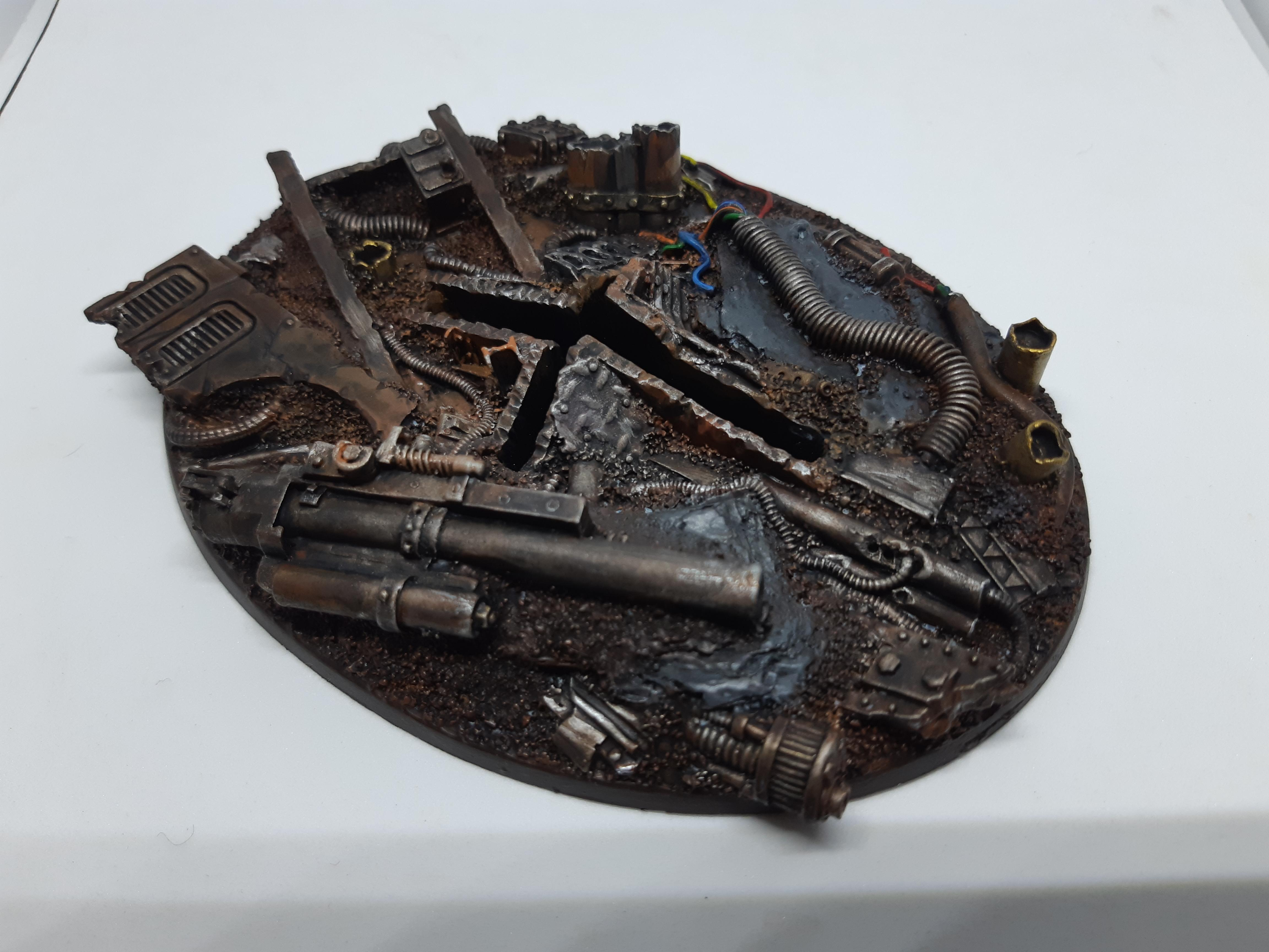 120mm, Base, Flyer, Imperial Guard, Junk City, Kromlech, Resin, Taurox, Warhammer 40,000