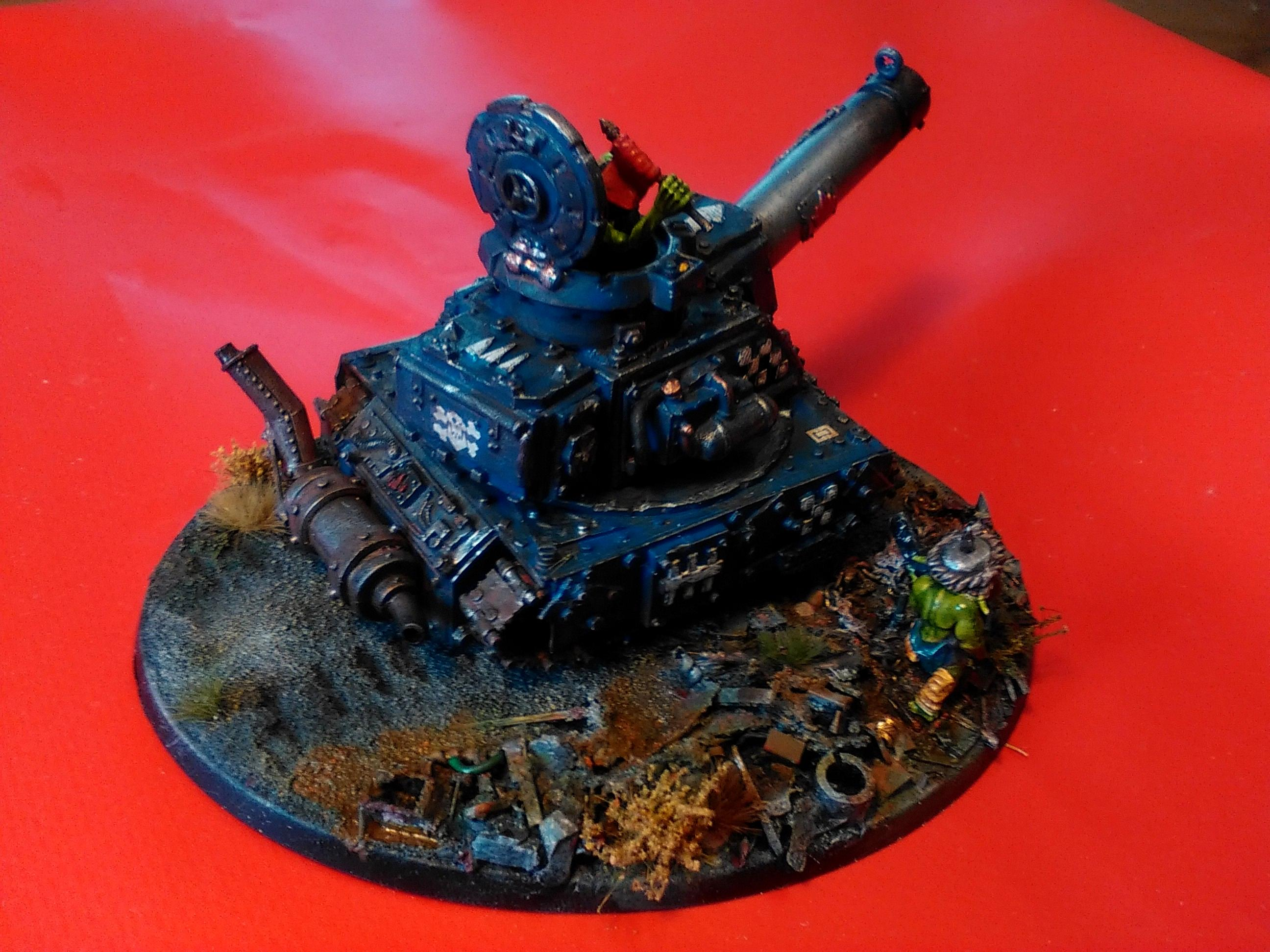 Conversion, Grot Conversion, Grot Tank, Grots, Kitbash, Kitbashed, Ork Conversions, Ork Coustom Made Vehicles, Orks, Scratch Build, Warhammer 40,000
