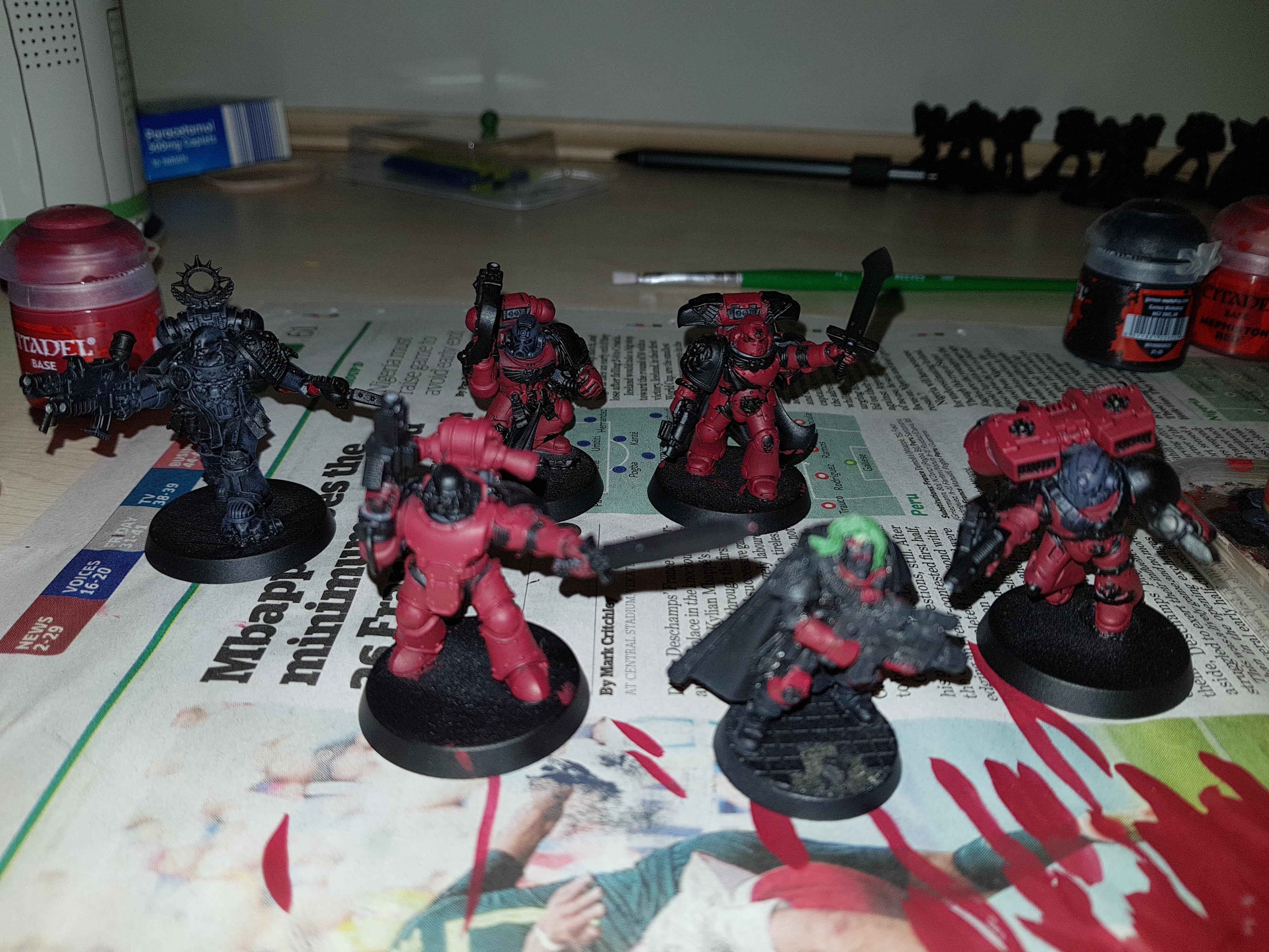 Blood Ravens, Deadshot, Lieutenant, Scout Sergeant, Scouts, Sgt Telion, Telion, Work In Progress