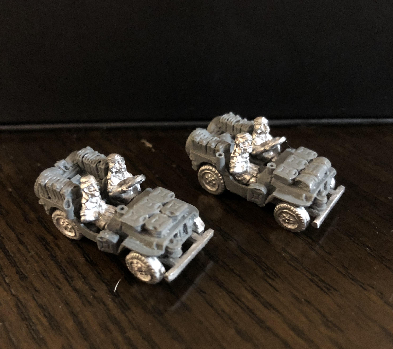 Flames of War WIP LRDG/SAS Trucks