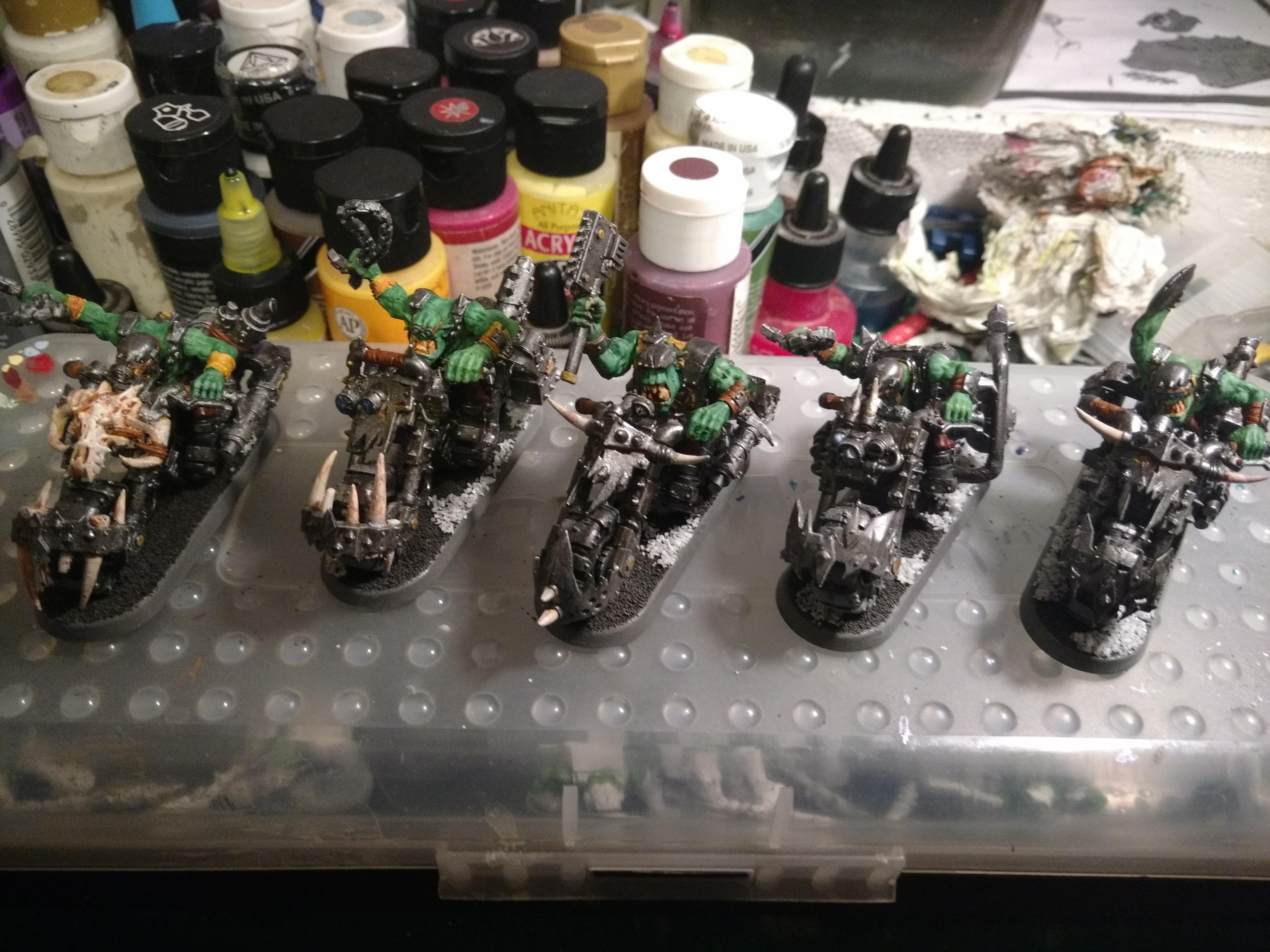 Ork Bikers complete 3