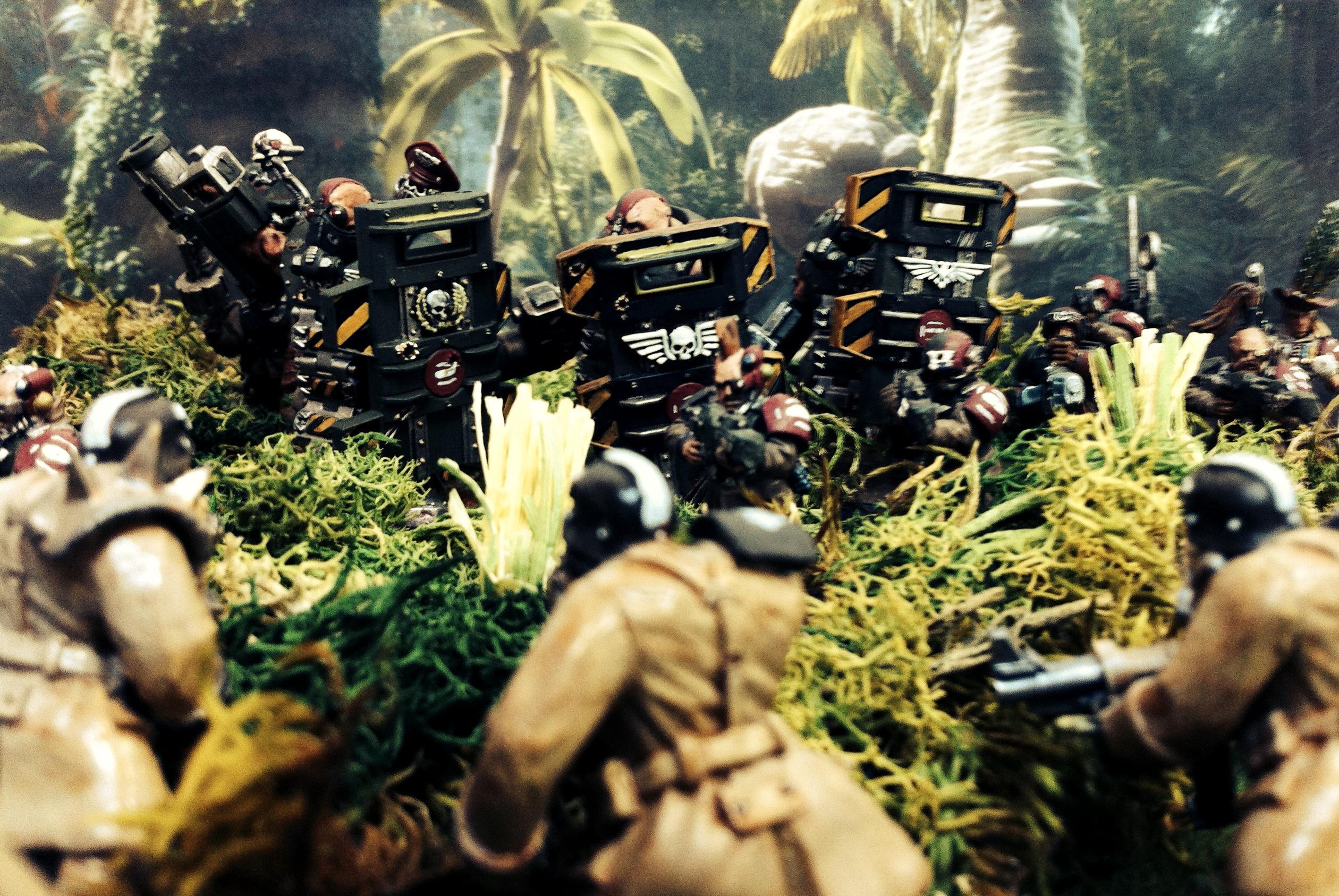 Astra Militarium, Diorama, Imperial Guard, Jungle, Kromlech, Orks, Warhammer 40,000