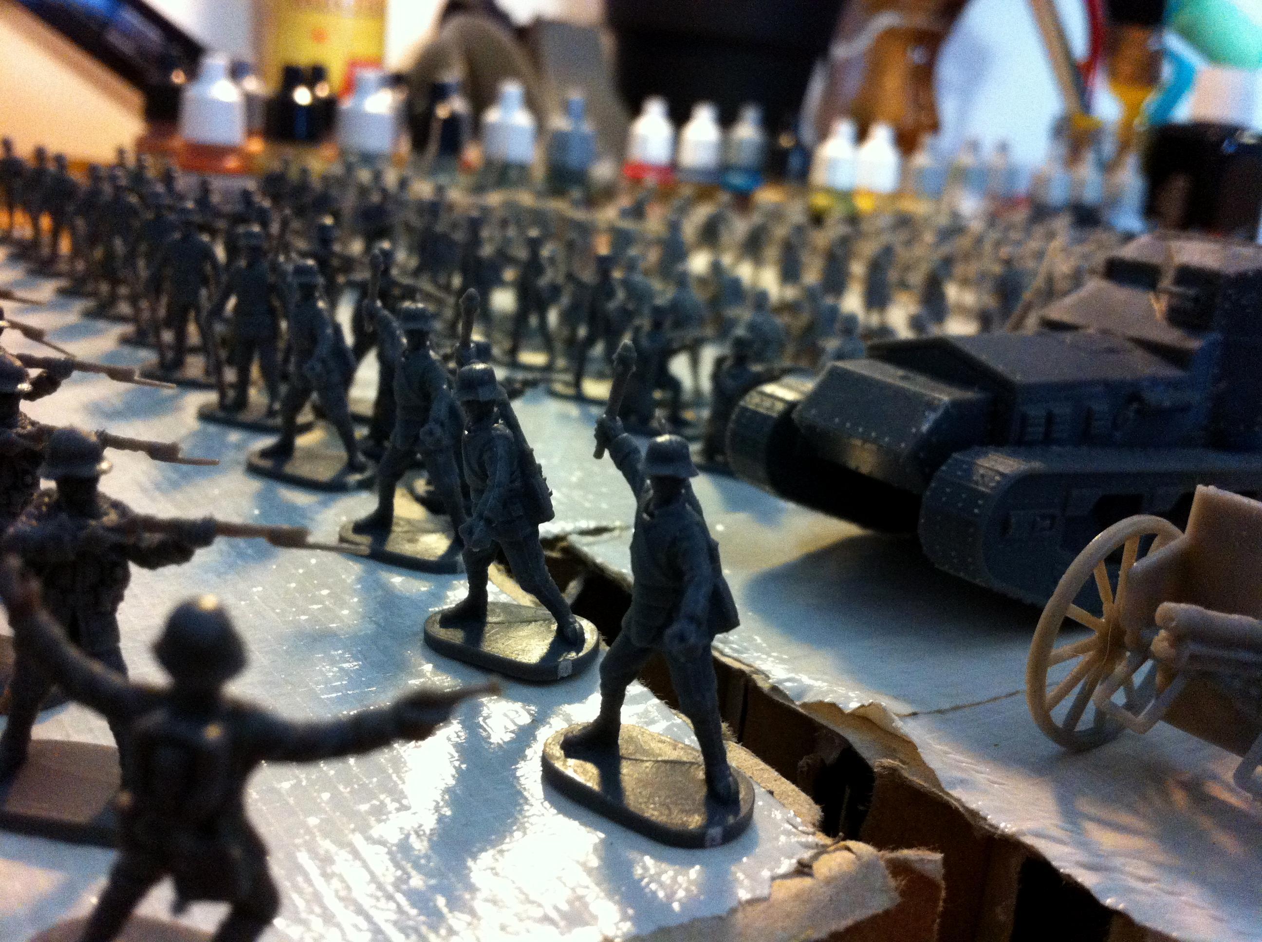 British Artillery, British Infantry, Caesar Miniatures, Ehmar, Figures, French Infantry, German Artillery, German Infantry, Unpainted, Whippet Mka, Wwi, Wwi Diorama