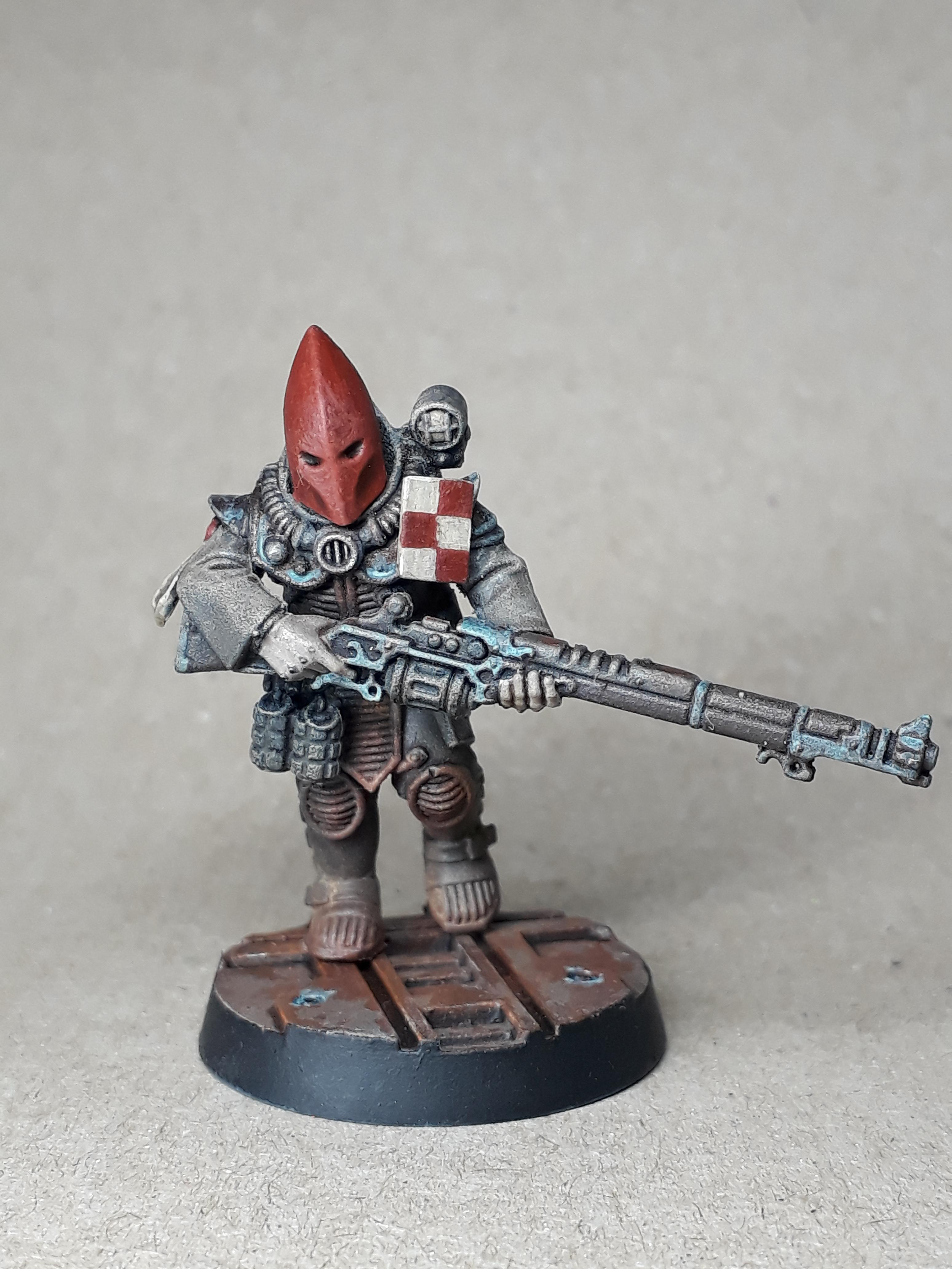 Astra Militarum, Base, Cultist, Imperial Cultist, Imperial Guard, Infantry Squad, Rust Effect, Warhammer 40,000, Weathered