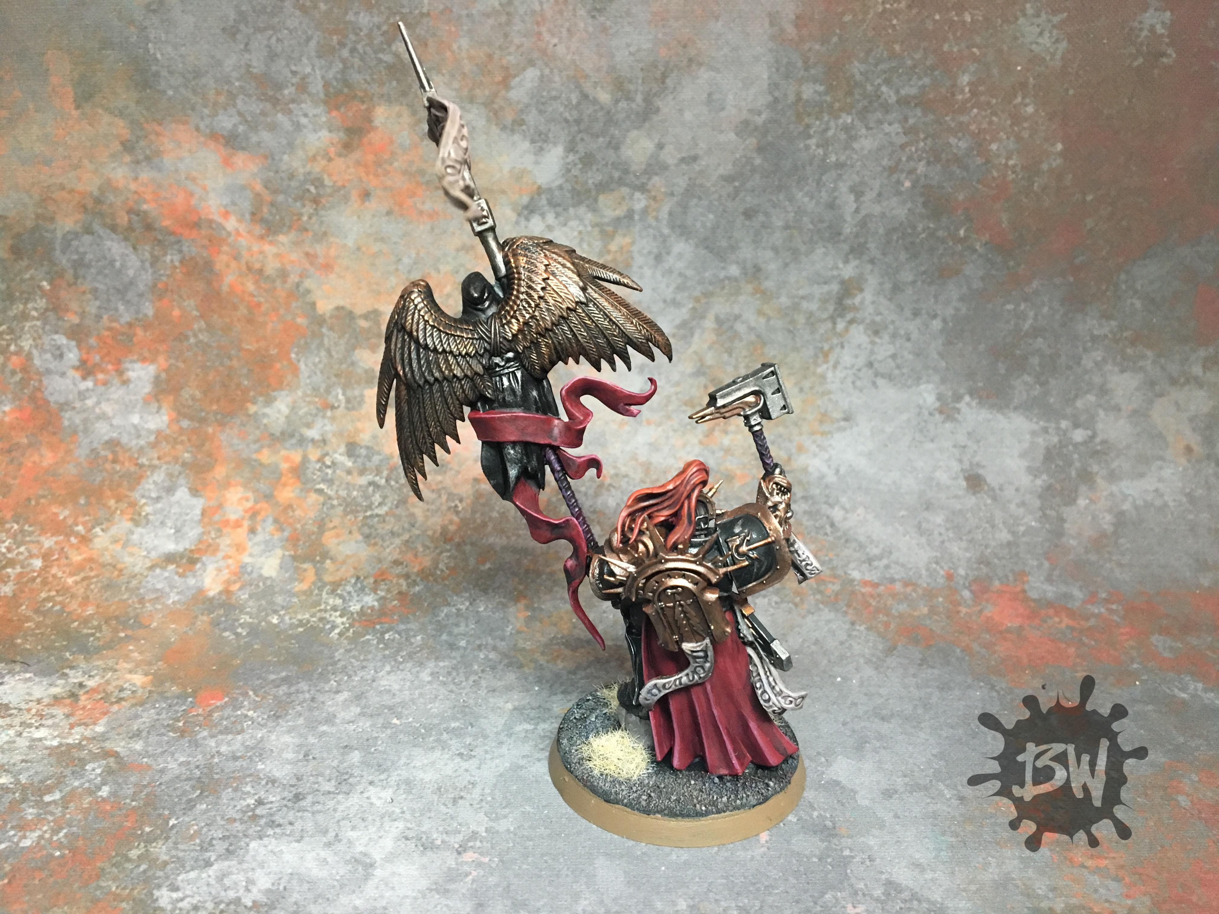 Age Of Sigmar, Bw, Commission, Knight-vexillor, Order, Painting, Stormcast, Warhammer Fantasy