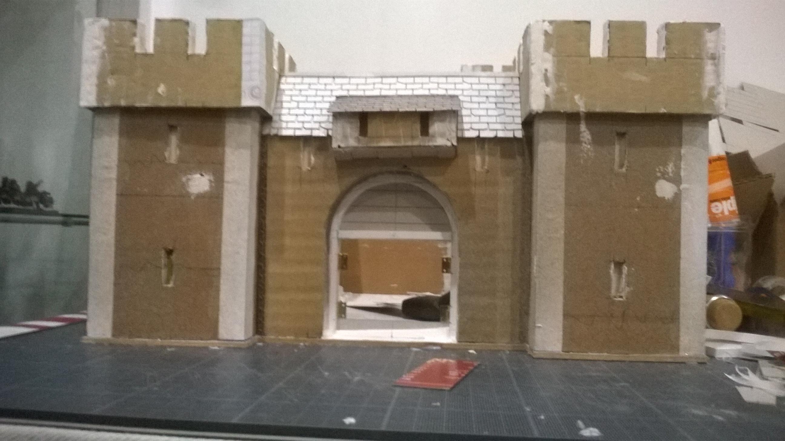 Cardboard, Castle, Paper Mache, Terrain