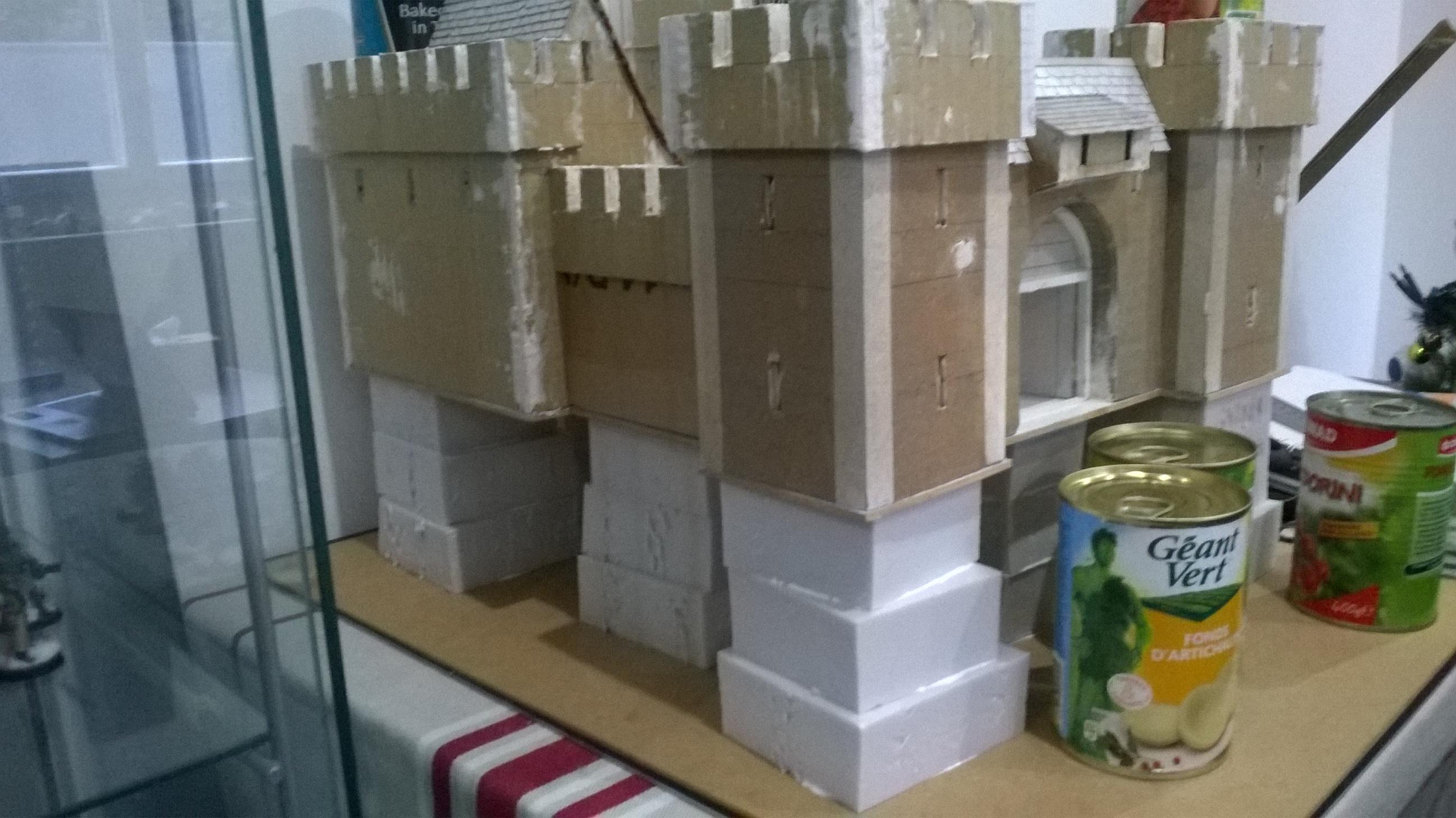 Cardboard, Castle, Paper Mache, Scratch Build, Terrain