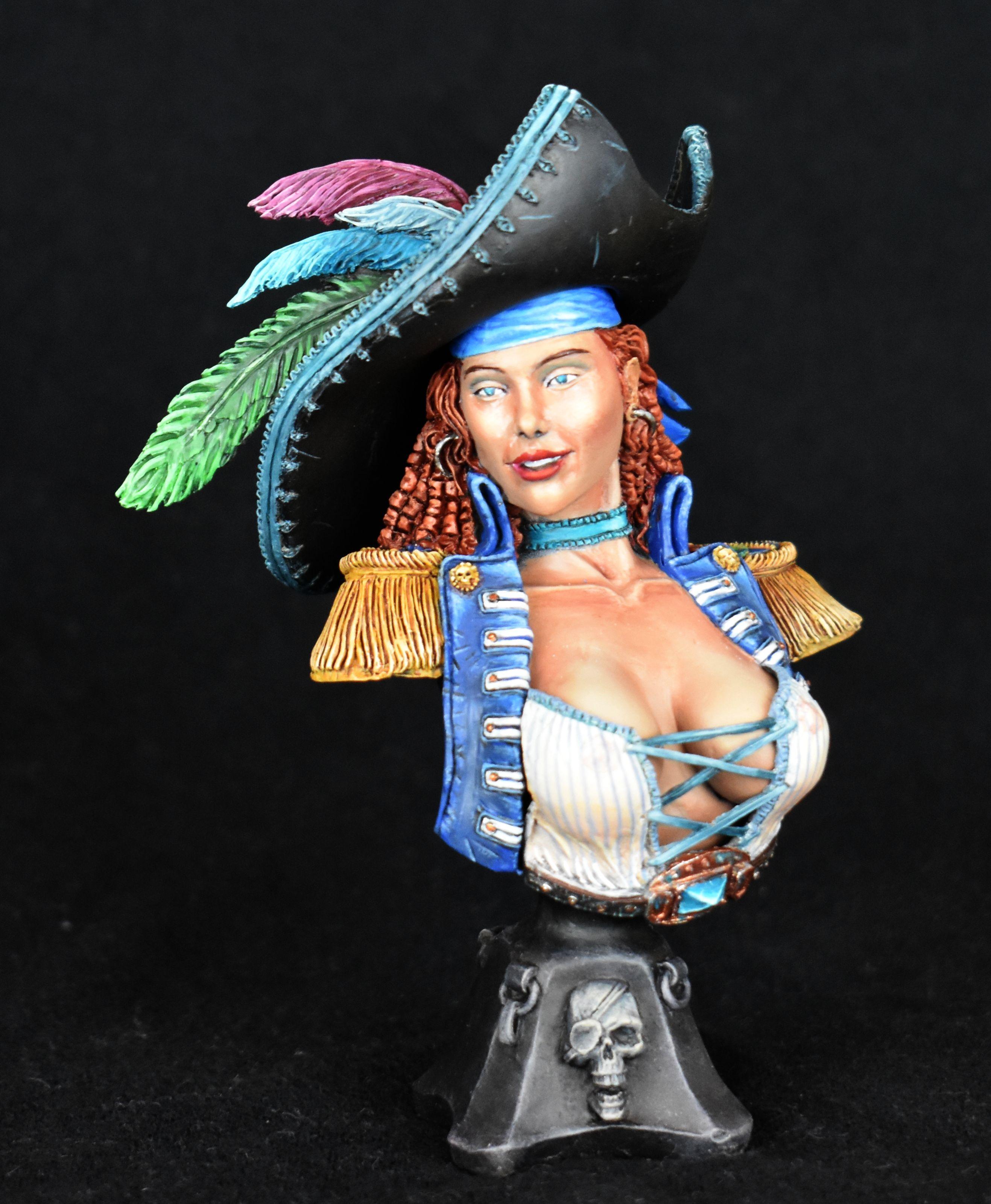 Bust, Colour, Non-Metallic Metal, Pirate