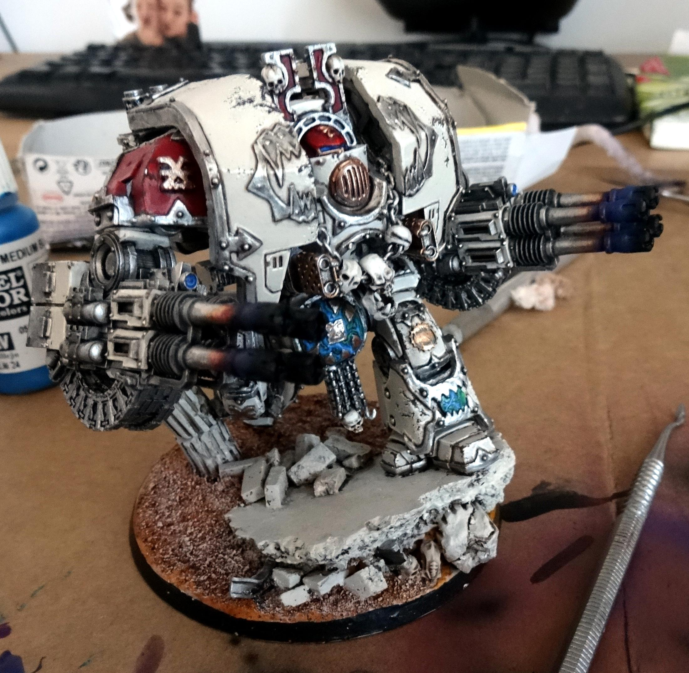 Chaos, Chaos Space Marines, Conversion, Dreadnought, Forge World, Khorne, Leviathan, Space Marines, World Eaters